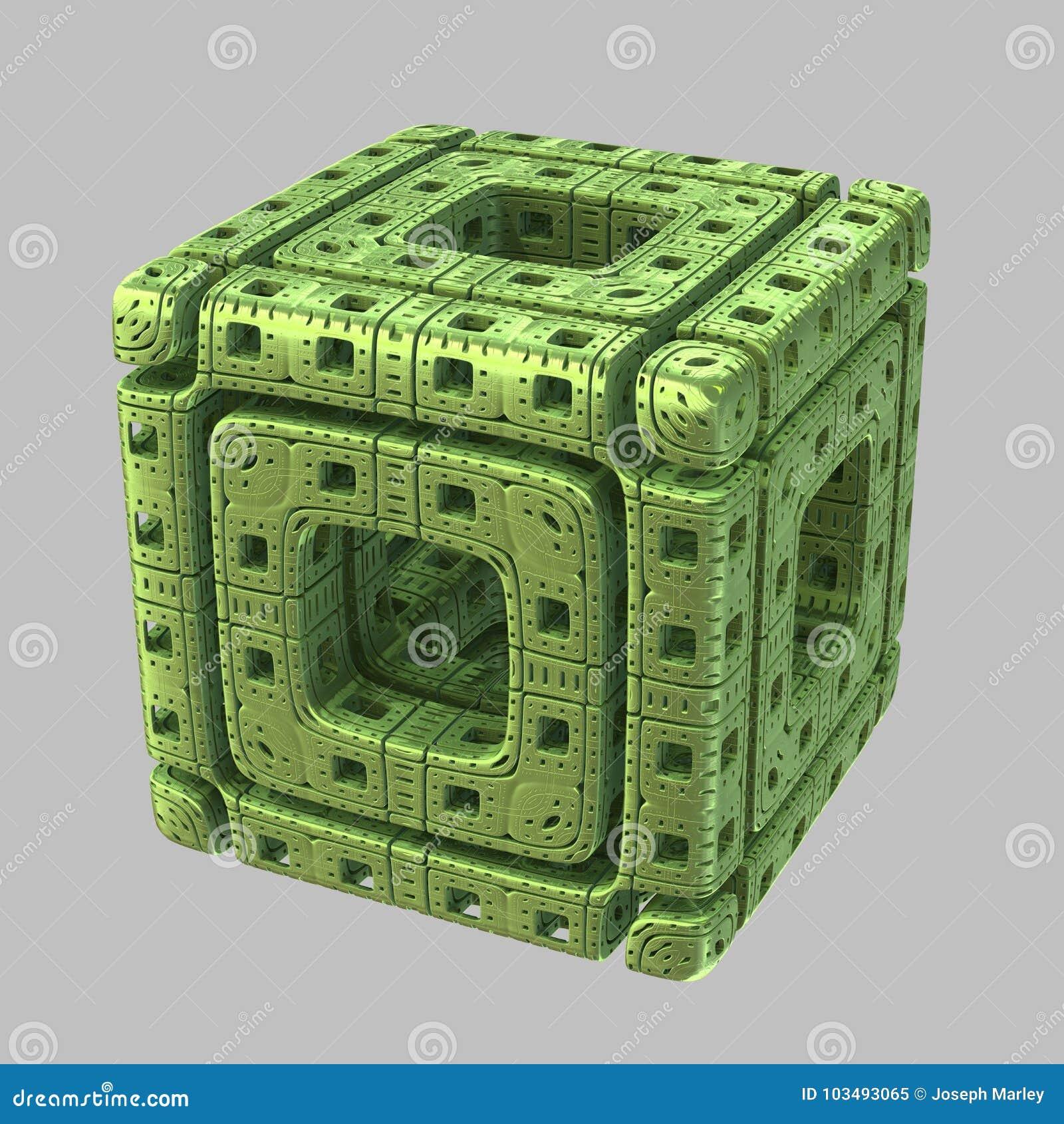 Αλλοδαπός Fractal κύβος