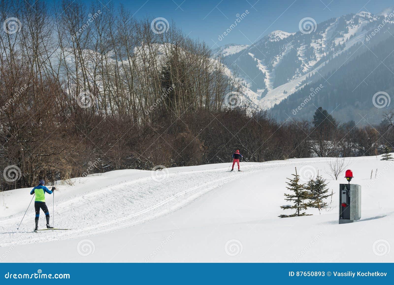 ΑΛΜΆΤΙ, ΚΑΖΑΚΣΤΑΝ - 18 ΦΕΒΡΟΥΑΡΊΟΥ 2017: ερασιτεχνικοί ανταγωνισμοί στην πειθαρχία ανώμαλο να κάνει σκι, με το όνομα