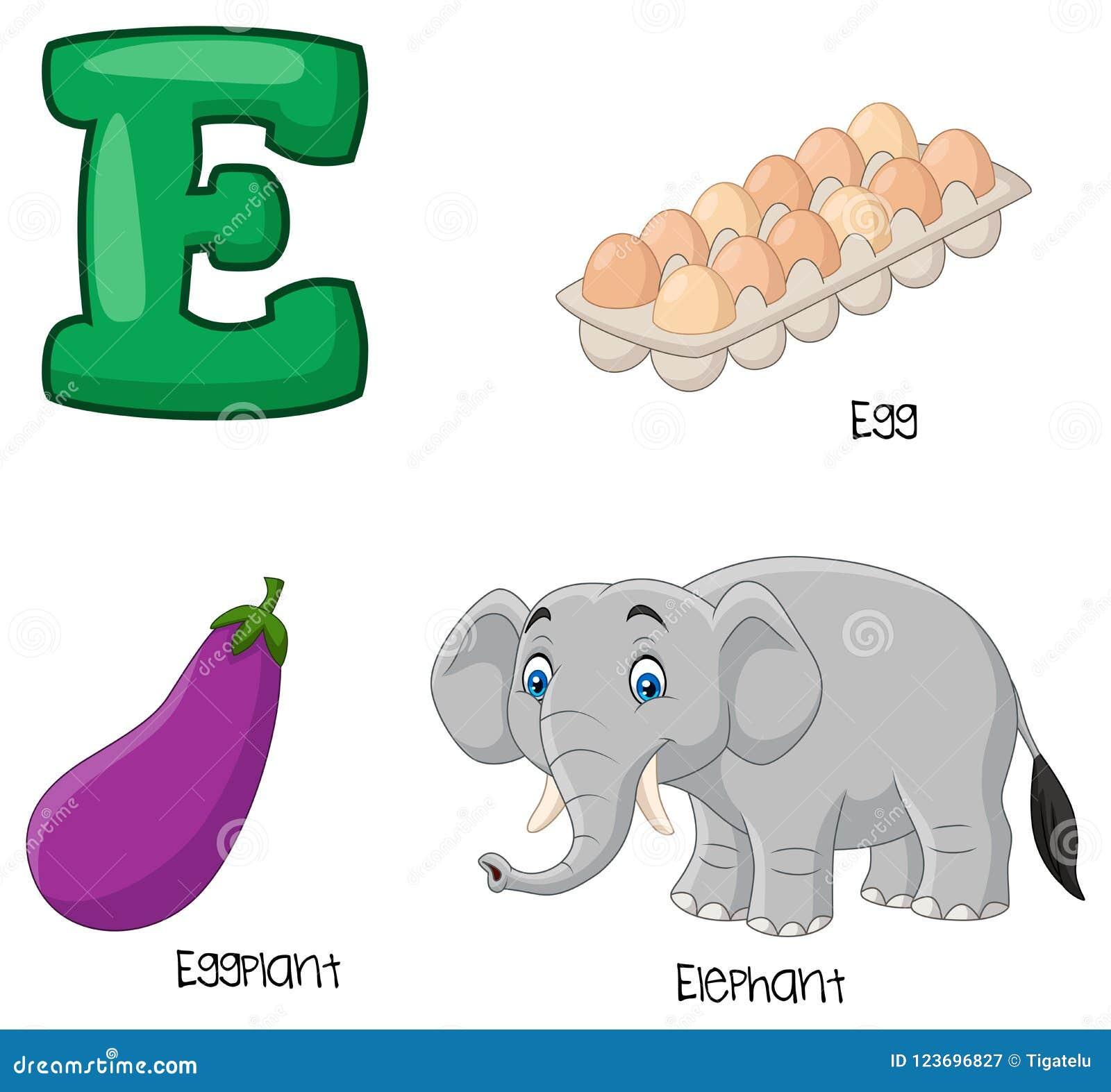 Αλφάβητο κινούμενων σχεδίων Ε