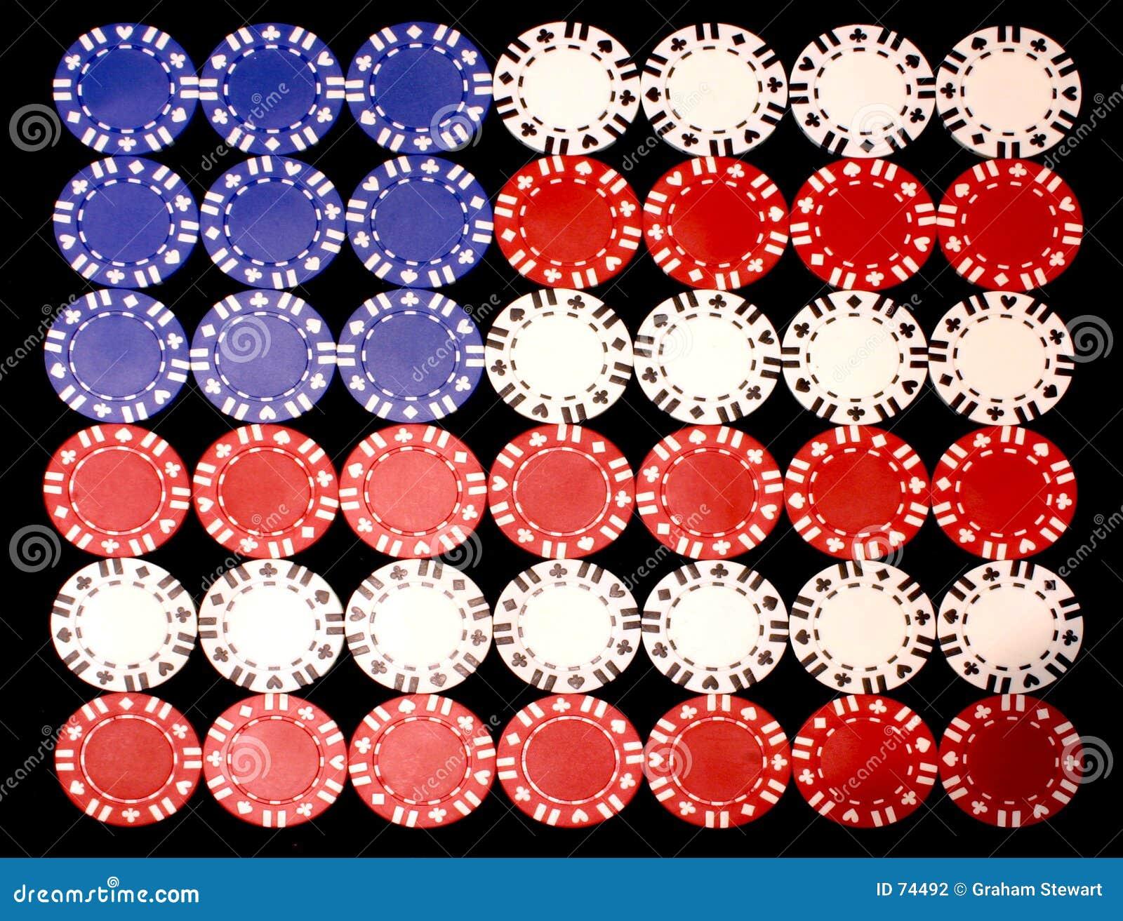 αμερικανικό πόκερ σημαιών τσιπ