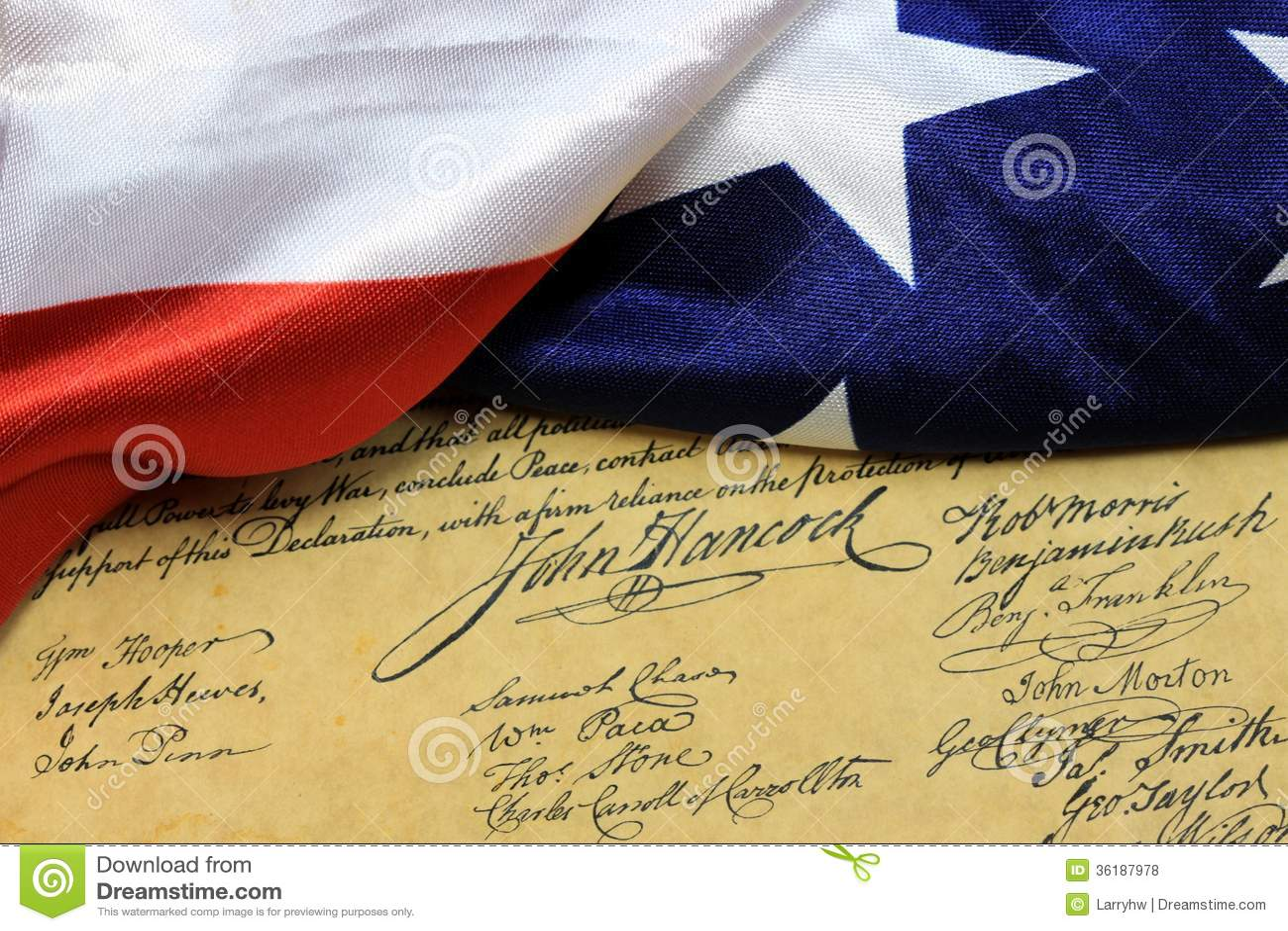 Αμερικανικό σύνταγμα υπογραφών του John Hancock