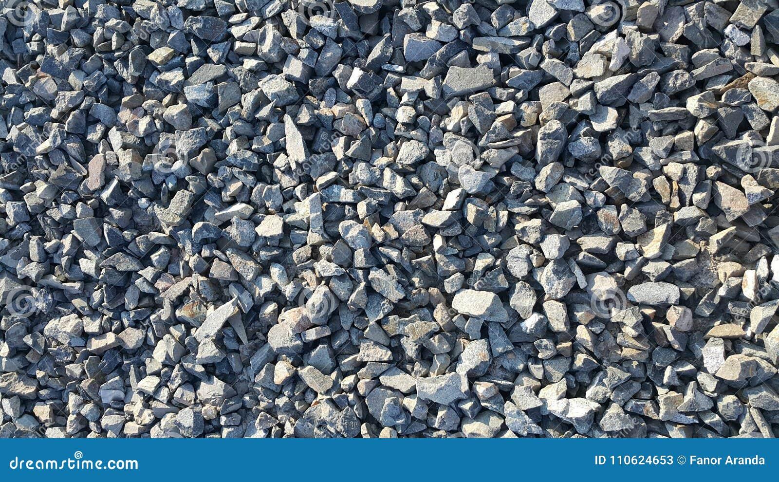 Αμμοχάλικο ή μπλε πέτρες που συντρίβεται
