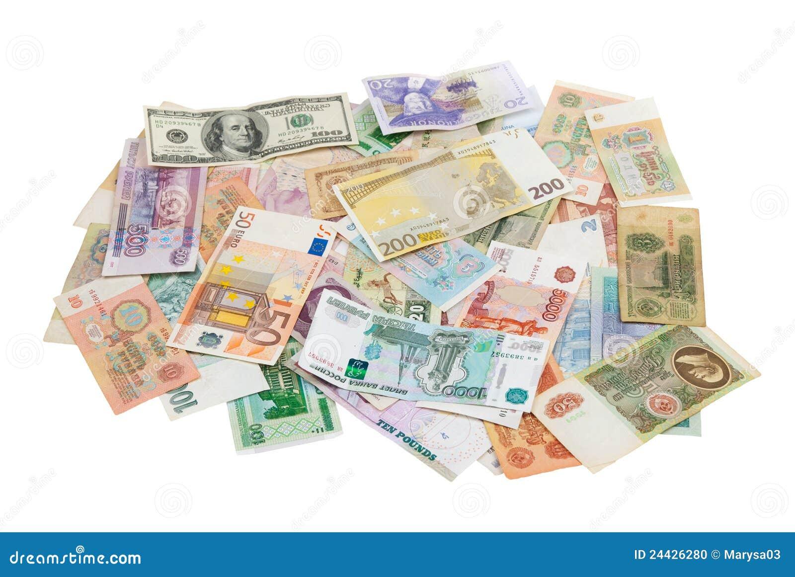 ανάμεικτος κόσμος τραπεζογραμματίων
