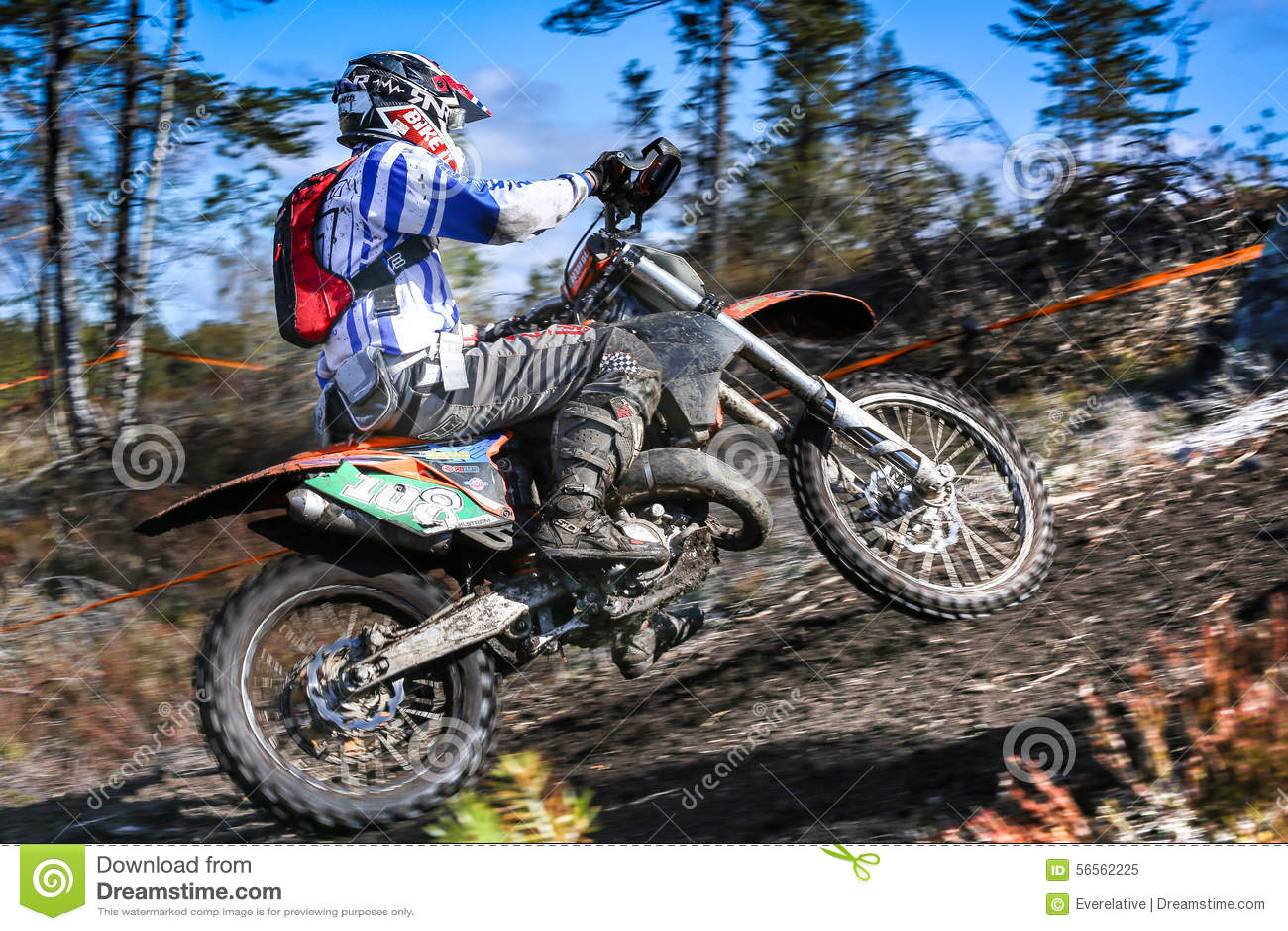 Download Αναβάτης Enduro στη μοτοσικλέτα του Εκδοτική εικόνα - εικόνα από διασκέδαση, αναβάτης: 56562225