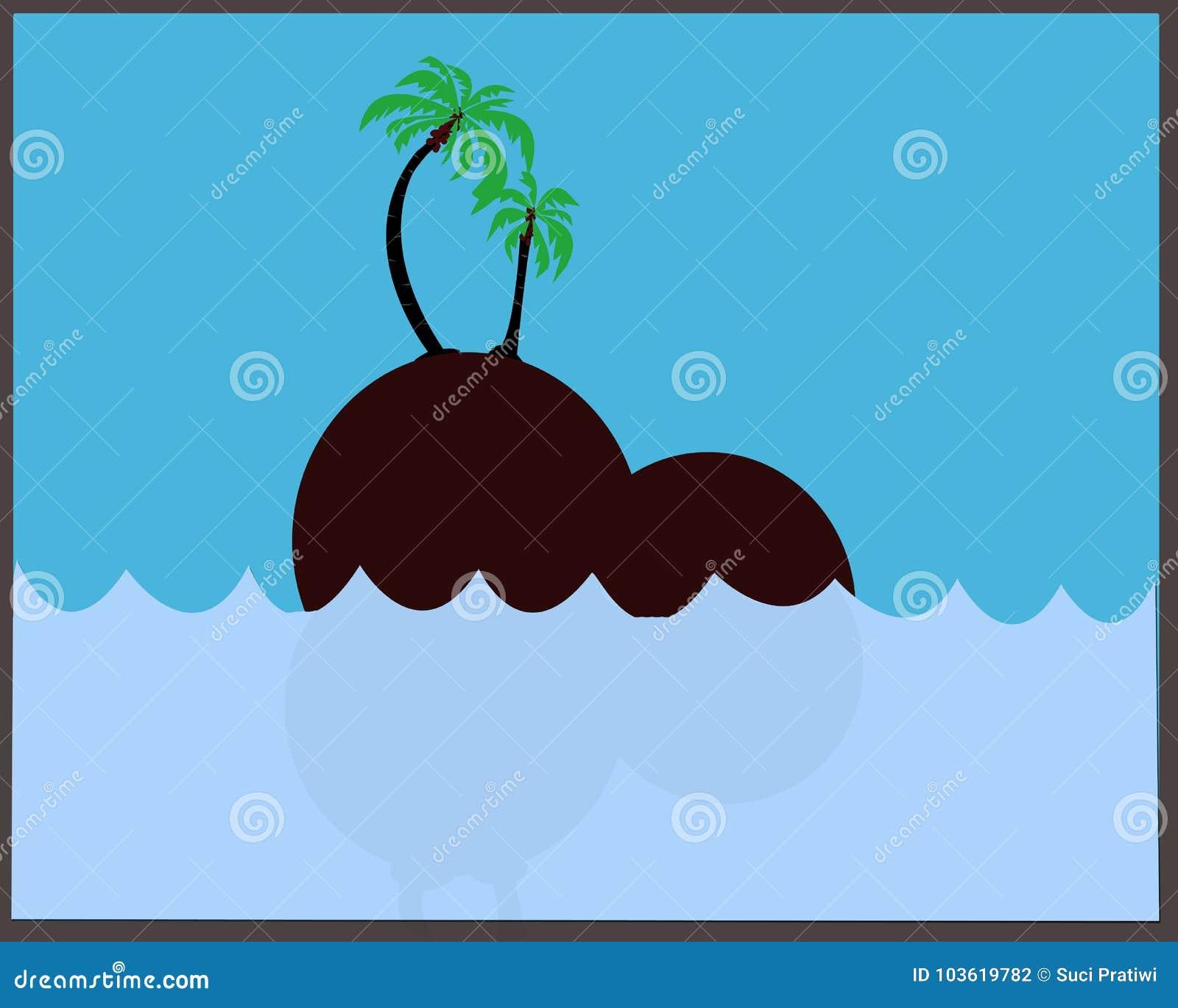 Αναγνωρίσεις της θάλασσας, των νησιών και των δέντρων καρύδων