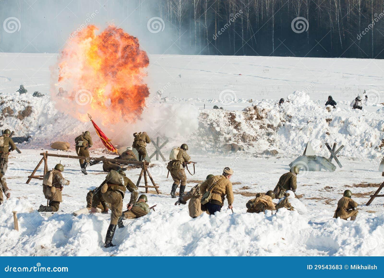 Αναδημιουργία των γεγονότων το 1943 που τελειώνουν τη μάχη Stalingrad.