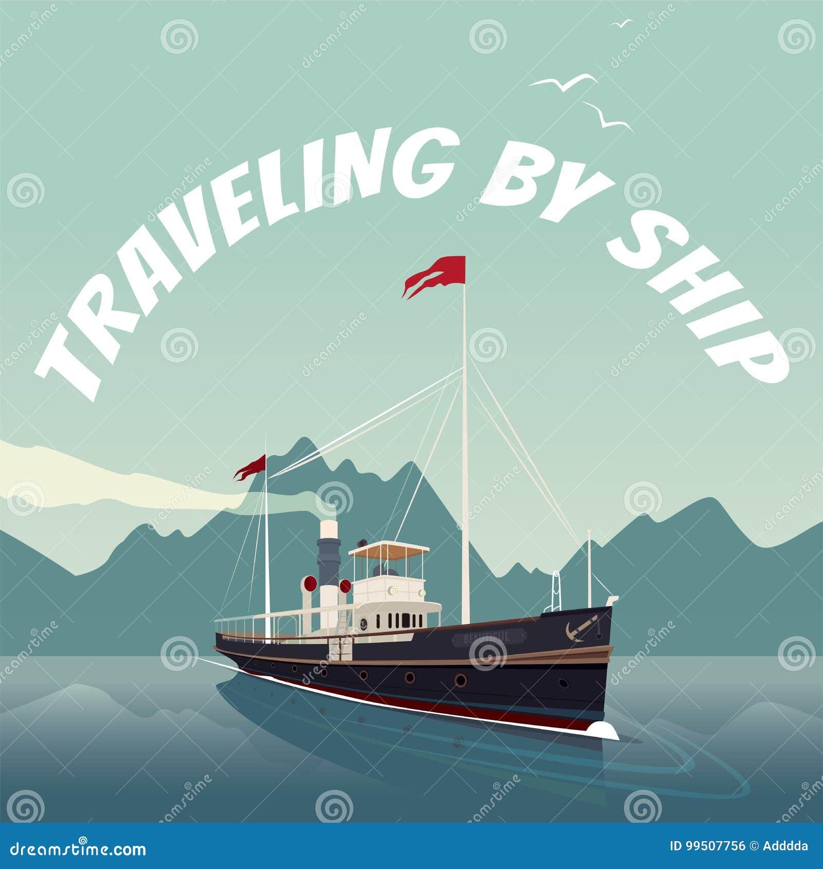 Αναδρομικά πανιά κρουαζιερόπλοιων στη θάλασσα τη σαφή ημέρα