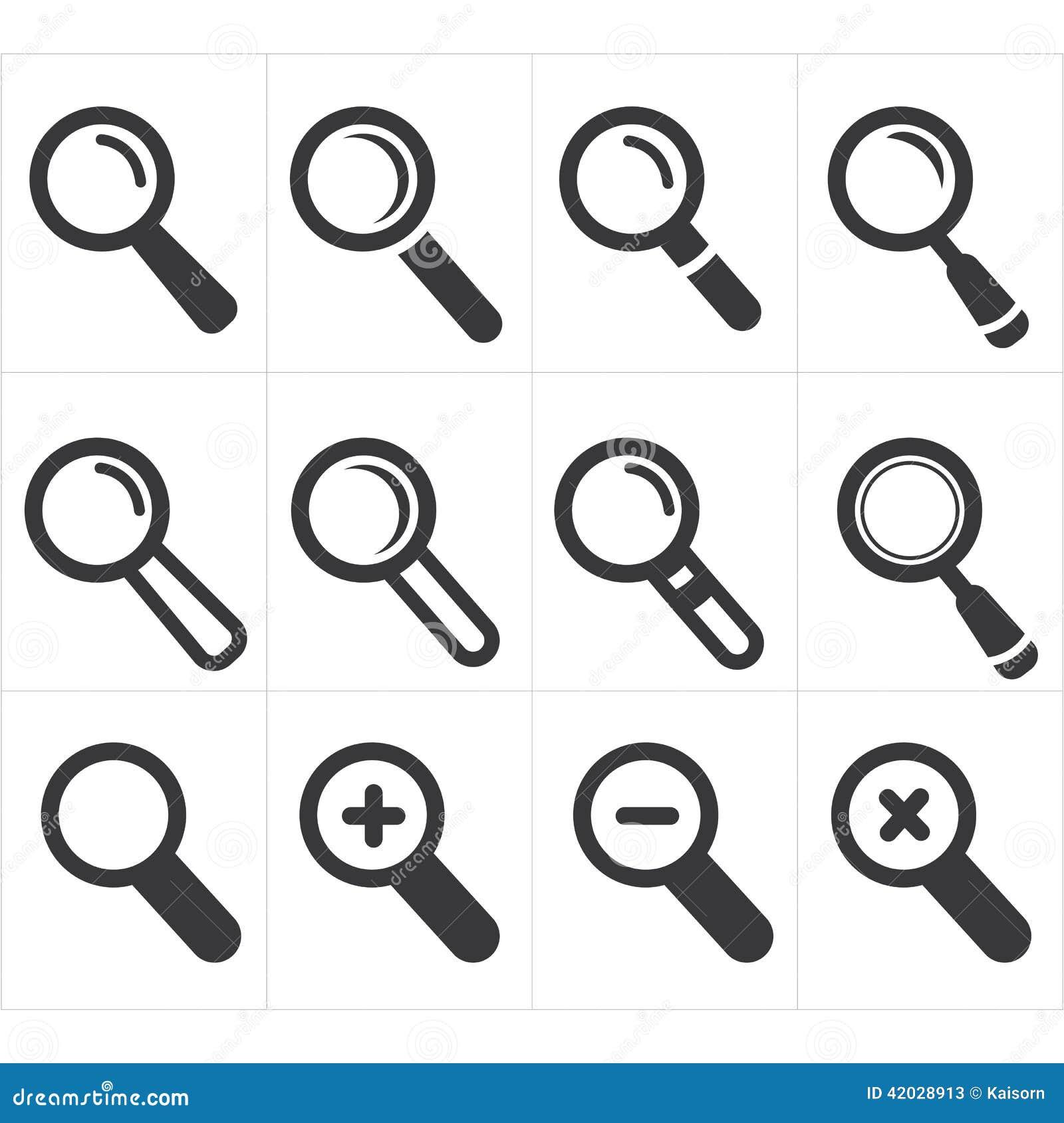 αναζήτηση εικονιδίων και πιό magnifier