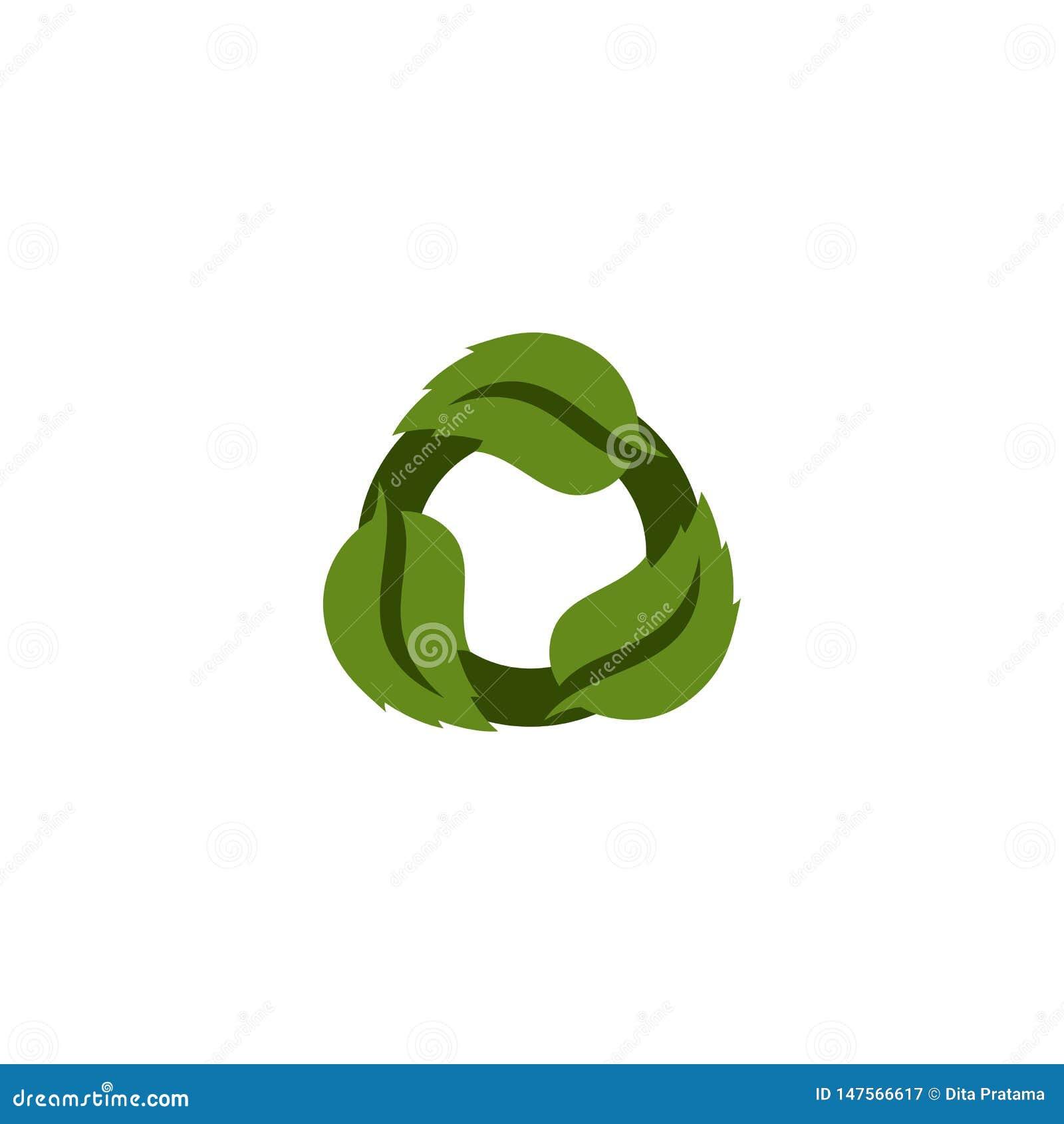 Ανανεώσιμο πράσινο λογότυπο φύλλων