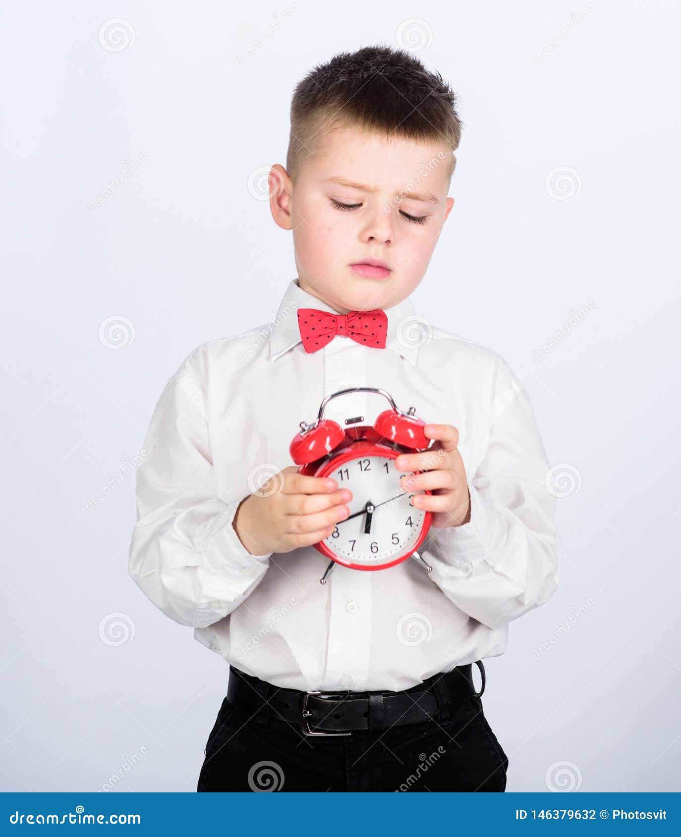 Αναπτύξτε τη μόνη πειθαρχία Ξυπνητήρι οργάνωσης Κόκκινο ρολόι λαβής μικρών παιδιών παιδιών Είναι χρόνος Σχέδιο και συγχρονισμός Π