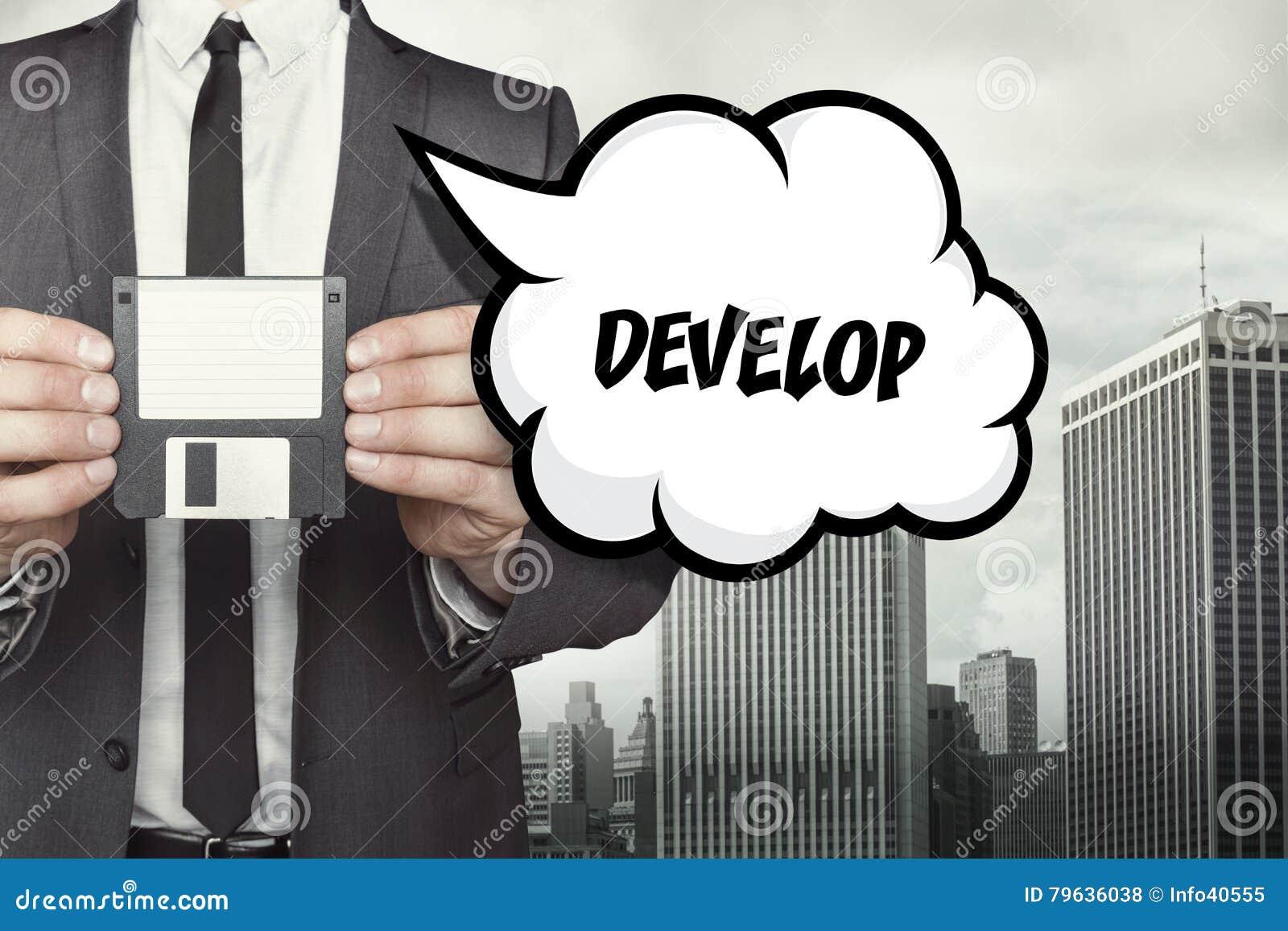 Αναπτύξτε το κείμενο στη λεκτική φυσαλίδα με τον επιχειρηματία