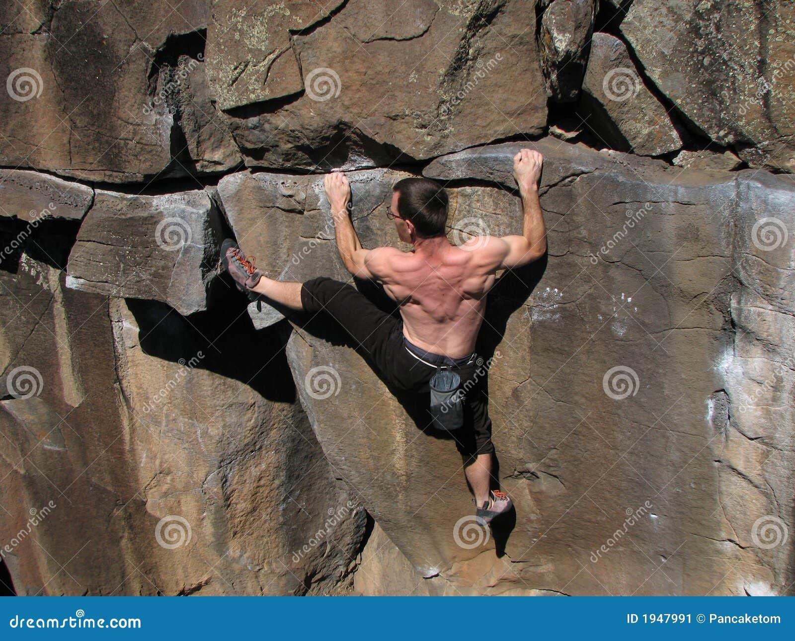 αναρρίχηση του βράχου ατόμ&