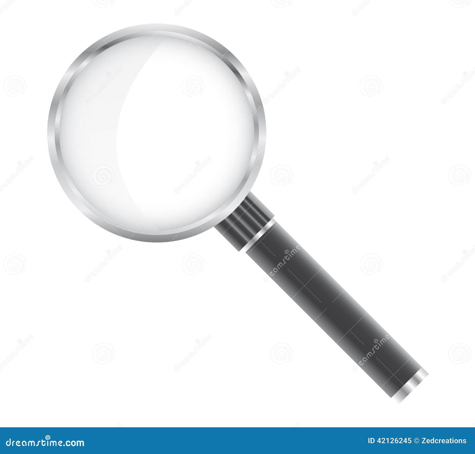 ανασκόπησης διανυσματικό λευκό ενίσχυσης γυαλιού απομονωμένο απεικόνιση