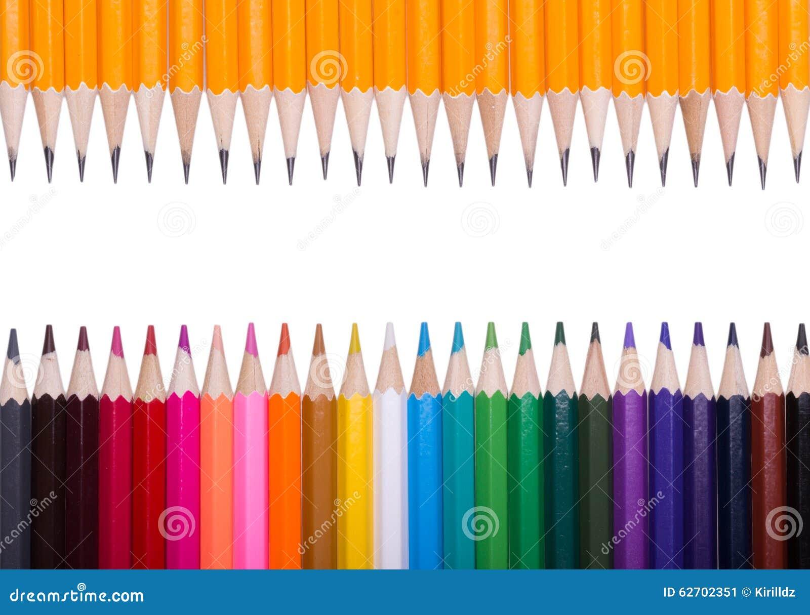 Ανασκόπηση μολυβιών χρώματος κλείστε επάνω του χρώματος μολυβιών