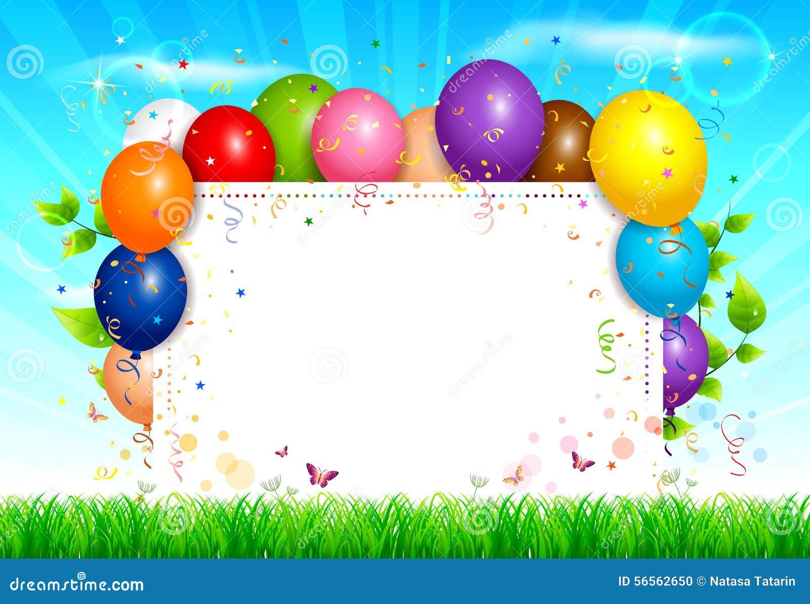 Download Ανασκόπηση μπαλονιών διανυσματική απεικόνιση. εικονογραφία από χλόη - 56562650