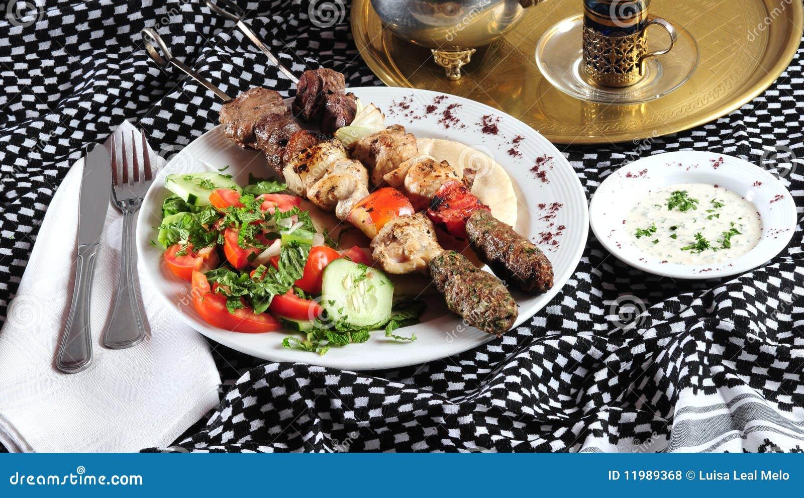 ανατολική μέση kebab κουζίνας