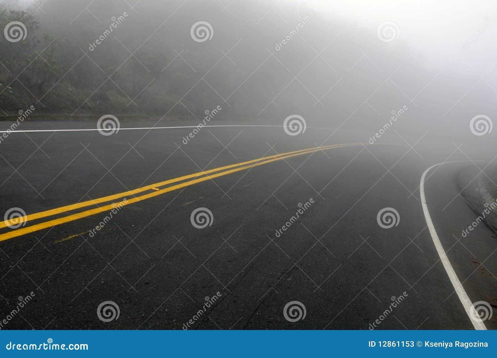 Ανατριχιαστικός ομιχλώδης δρόμος
