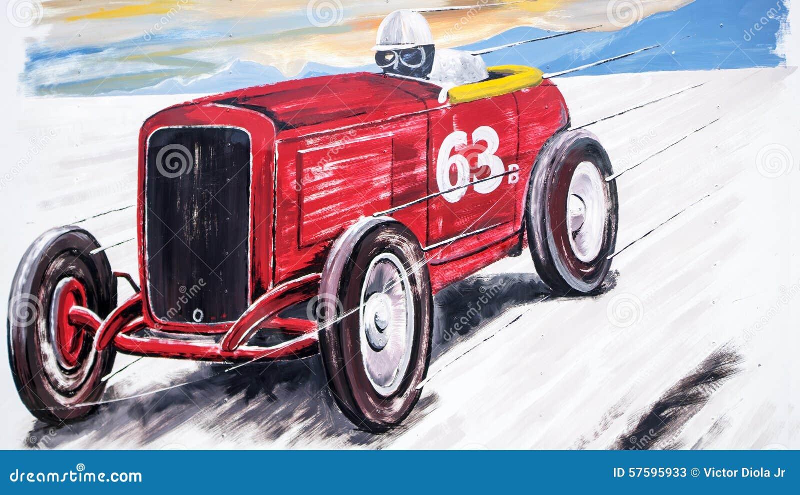 Αναδρομική ζωγραφική αγωνιστικών αυτοκινήτων