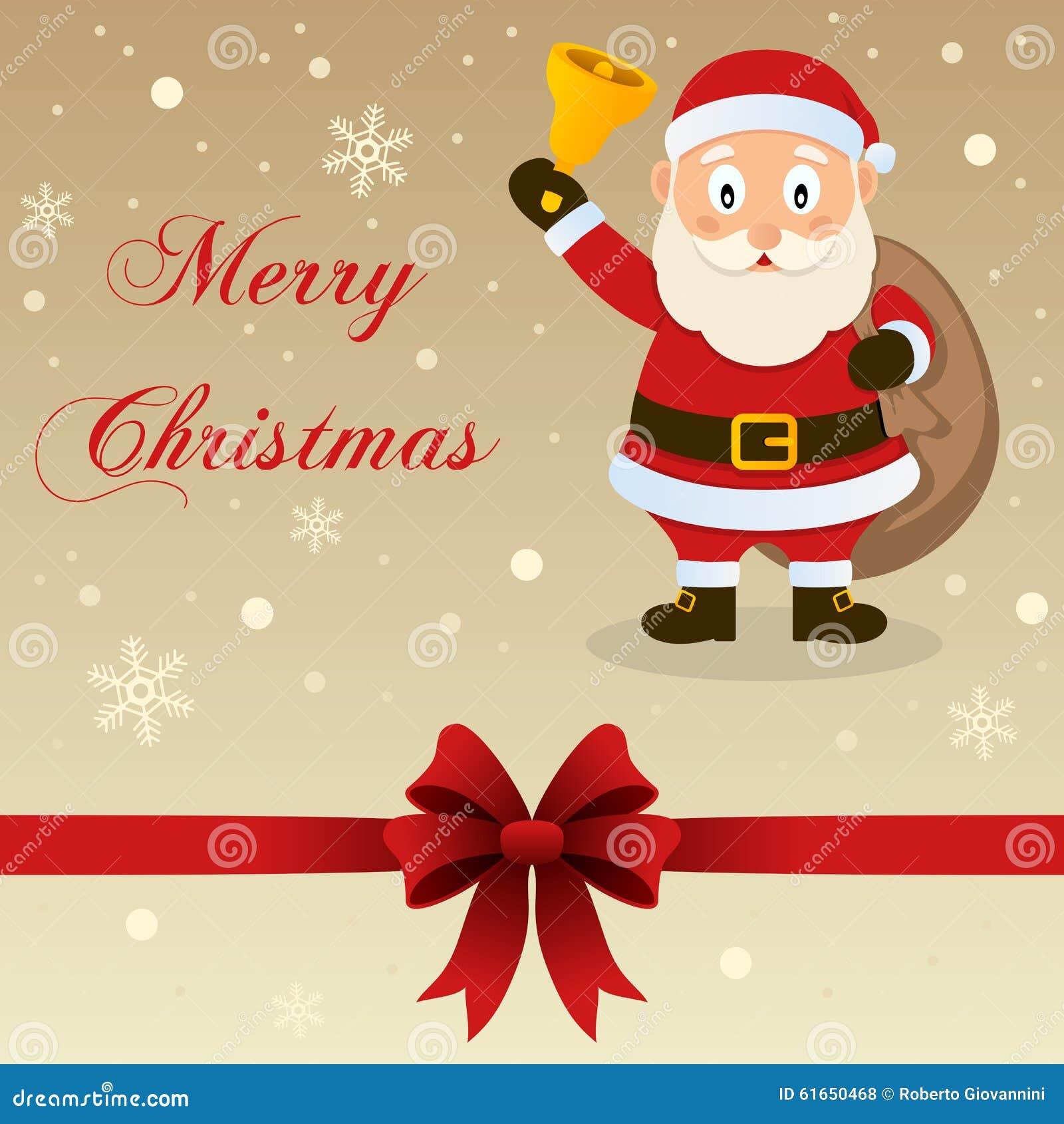 Αναδρομική κάρτα Άγιος Βασίλης Χαρούμενα Χριστούγεννας