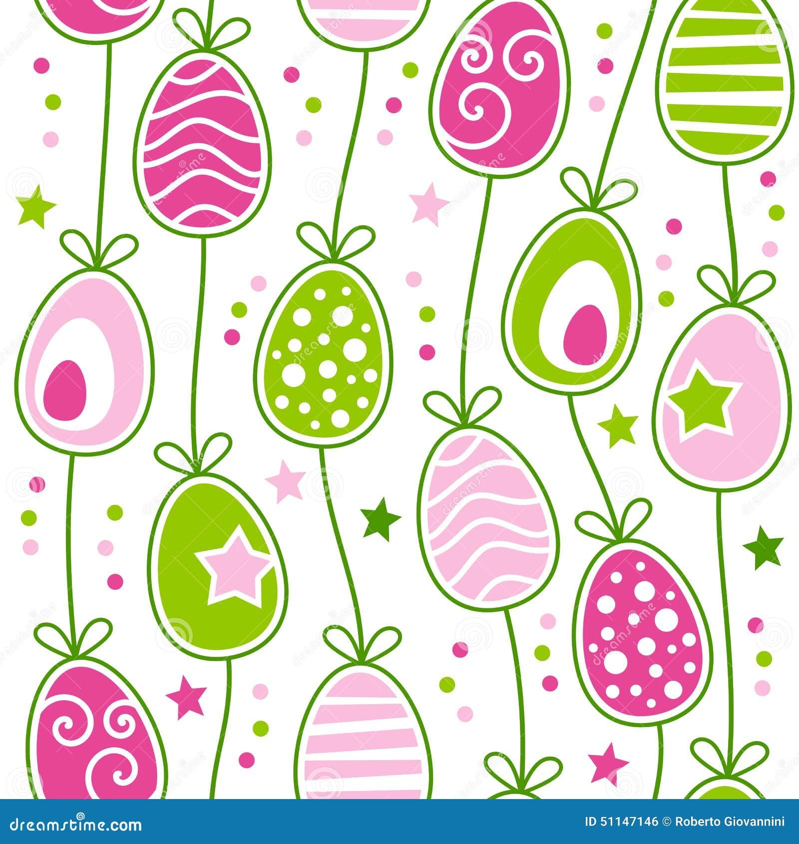 Αναδρομικό άνευ ραφής σχέδιο αυγών Πάσχας