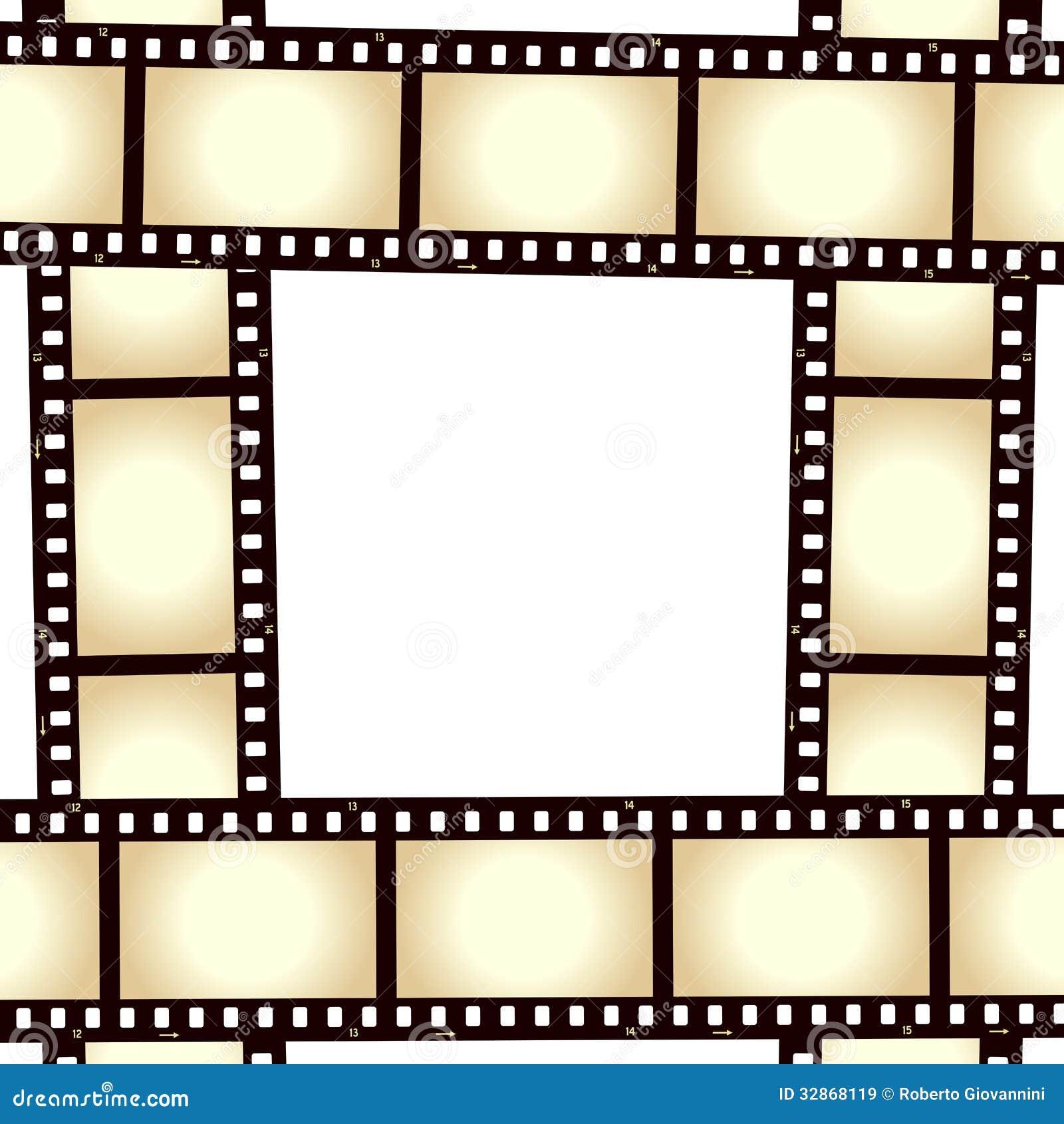 Αναδρομικό πλαίσιο φωτογραφιών λουρίδων ταινιών