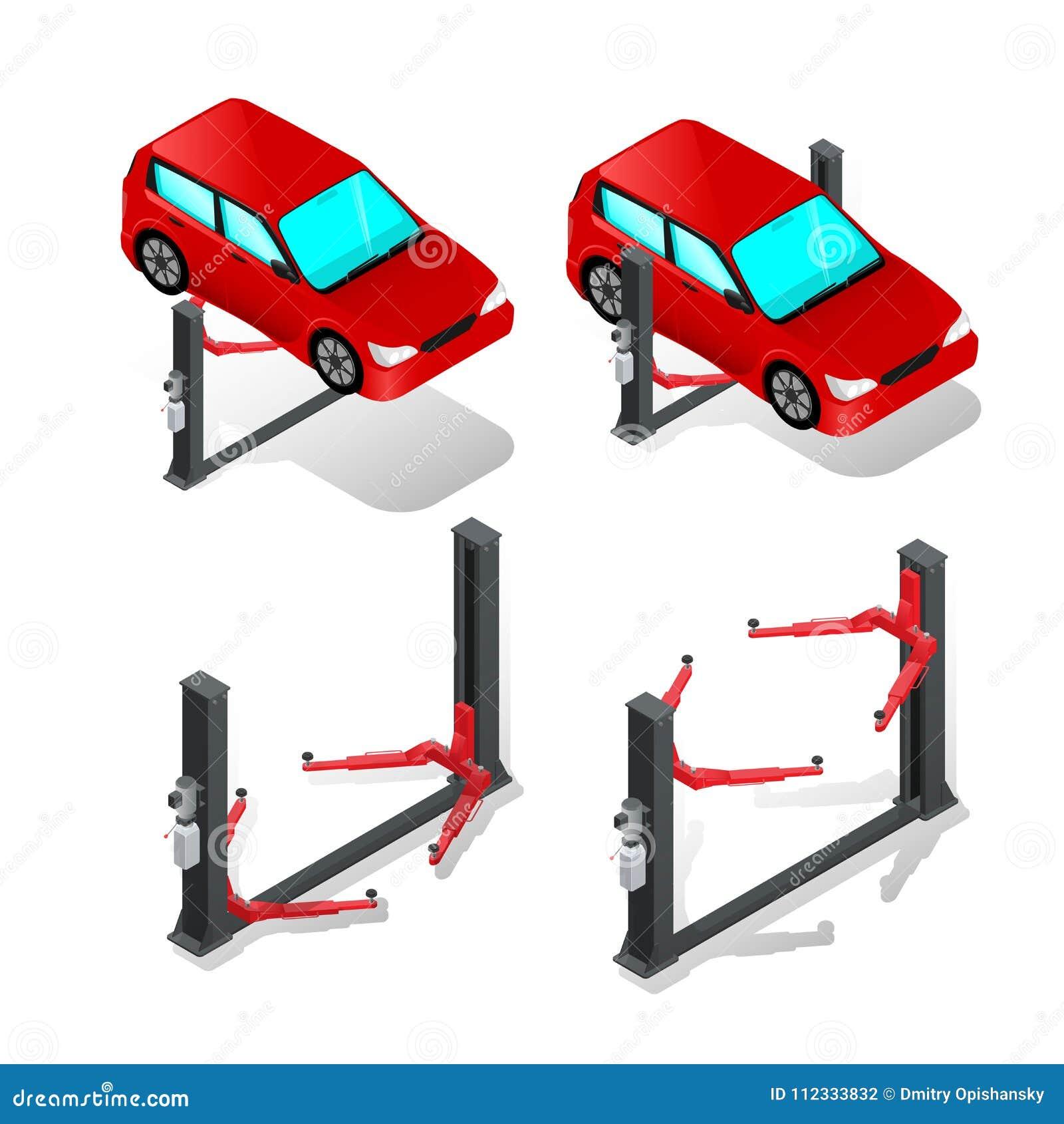 Ανελκυστήρας αυτοκινήτων, συσκευή για το αυτοκίνητο στο εργαστήριο, επισκευή αυτοκινήτων