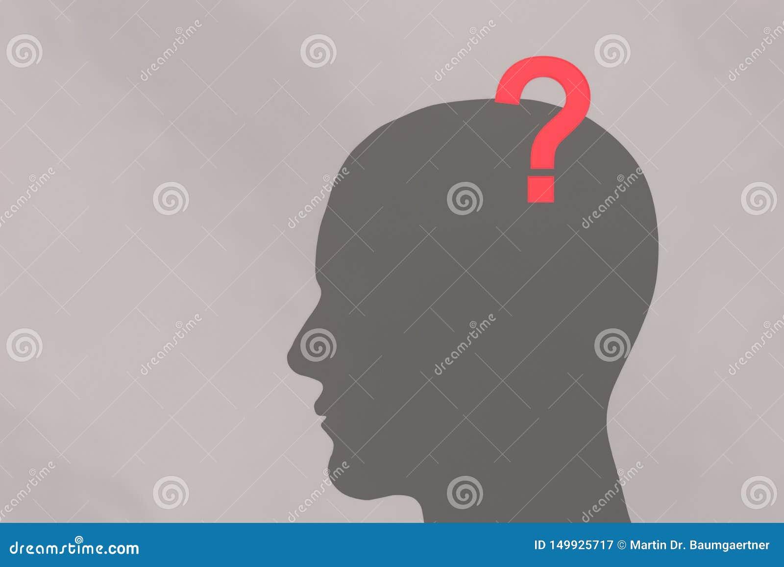 Ανθρώπινα κεφάλι και ερωτηματικό