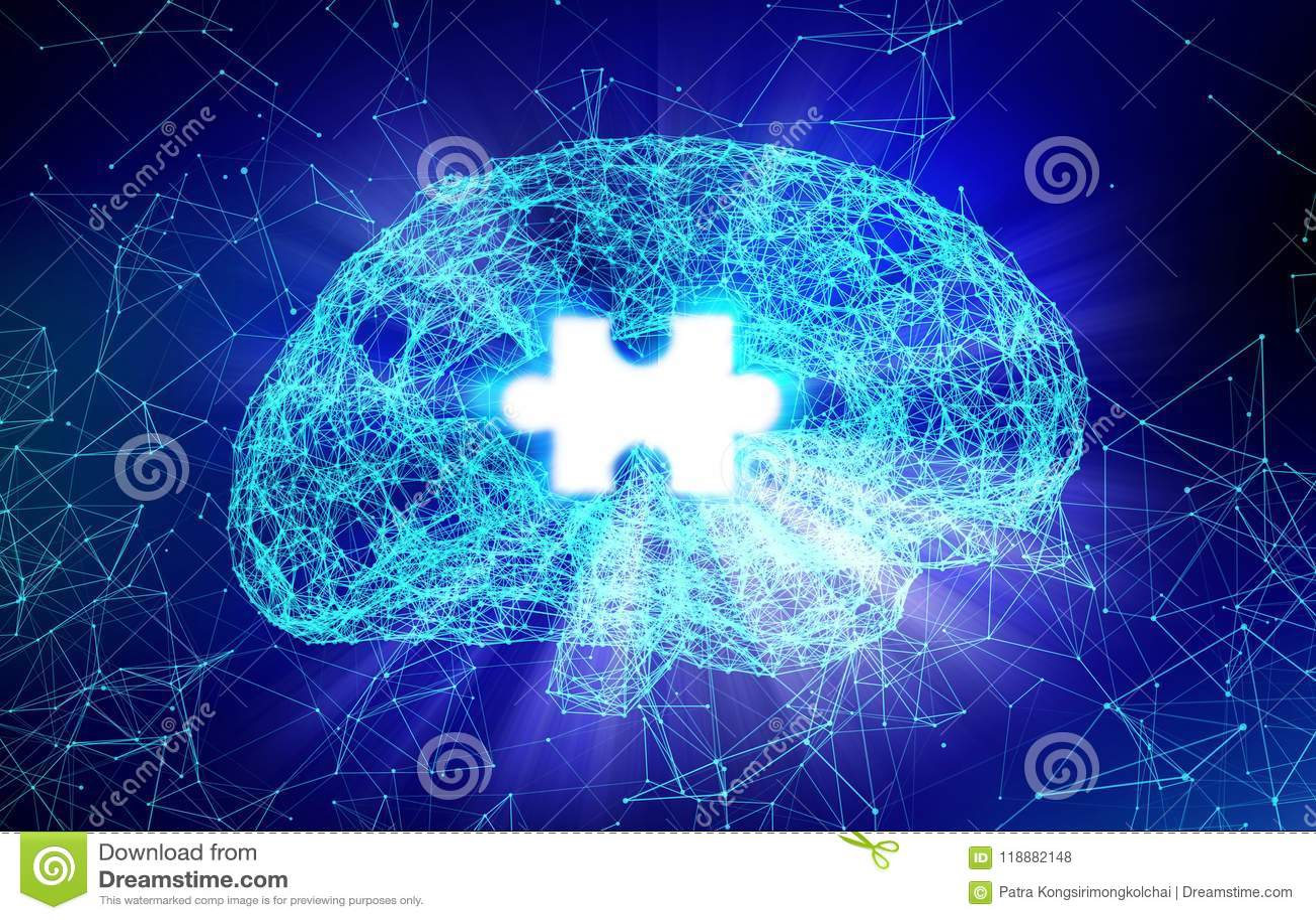 Ανθρώπινοι εγκέφαλος και τορνευτικό πριόνι για την ασθένεια του Alzheimer ` s στη μορφή