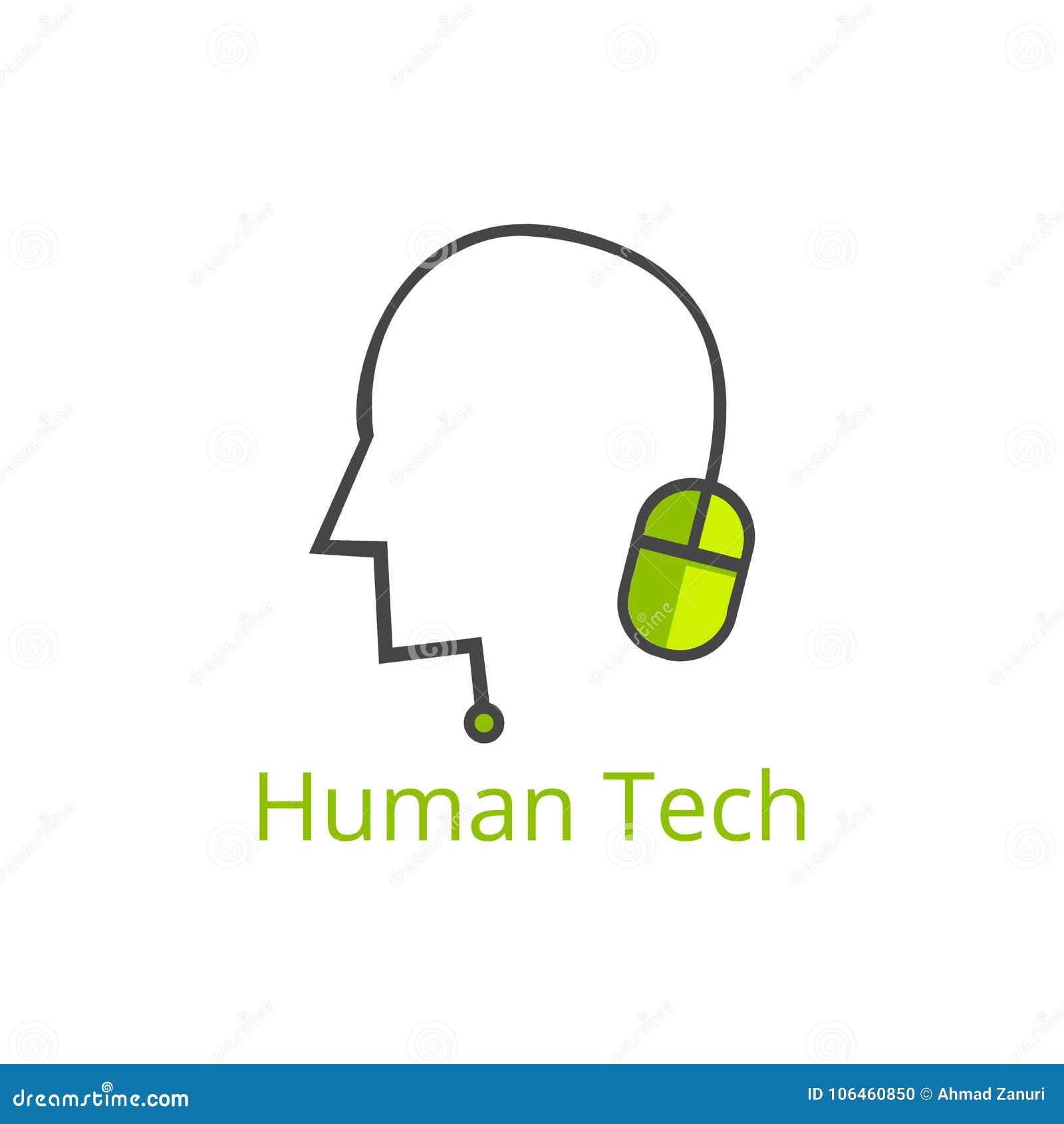 Ανθρώπινο λογότυπο τεχνολογίας