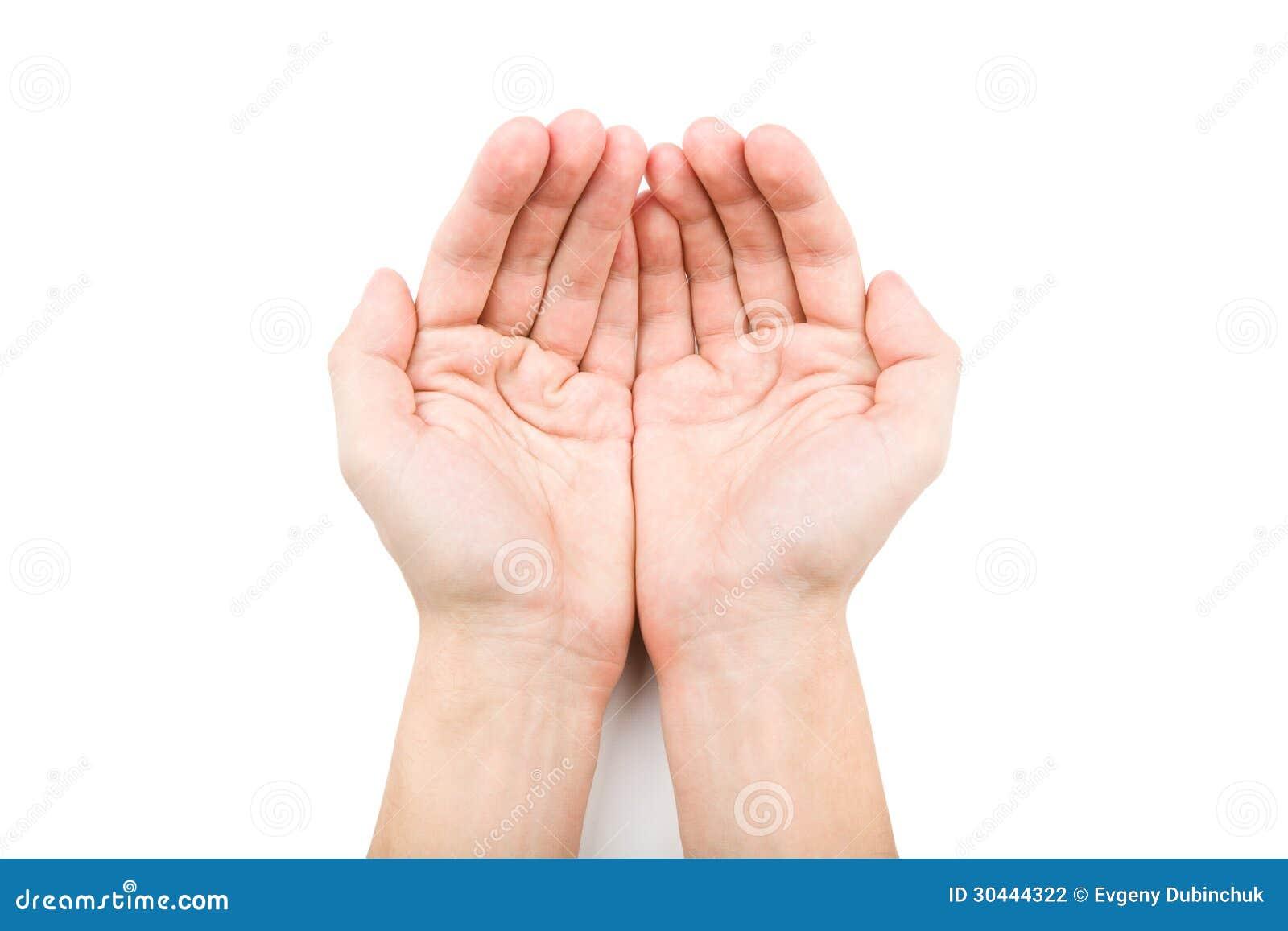 Ανοικτά χέρια που δίνουν κάτι