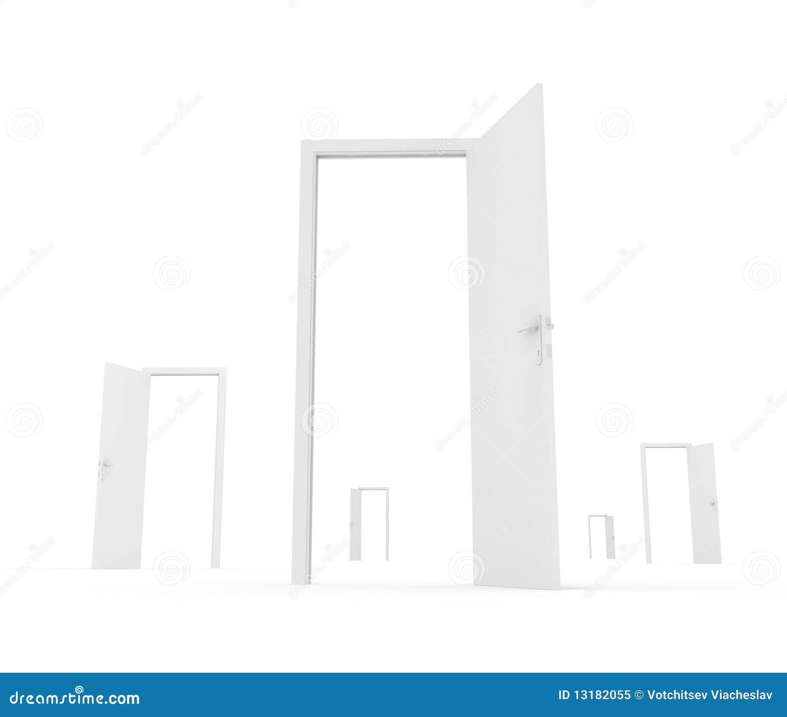 ανοικτό λευκό πορτών