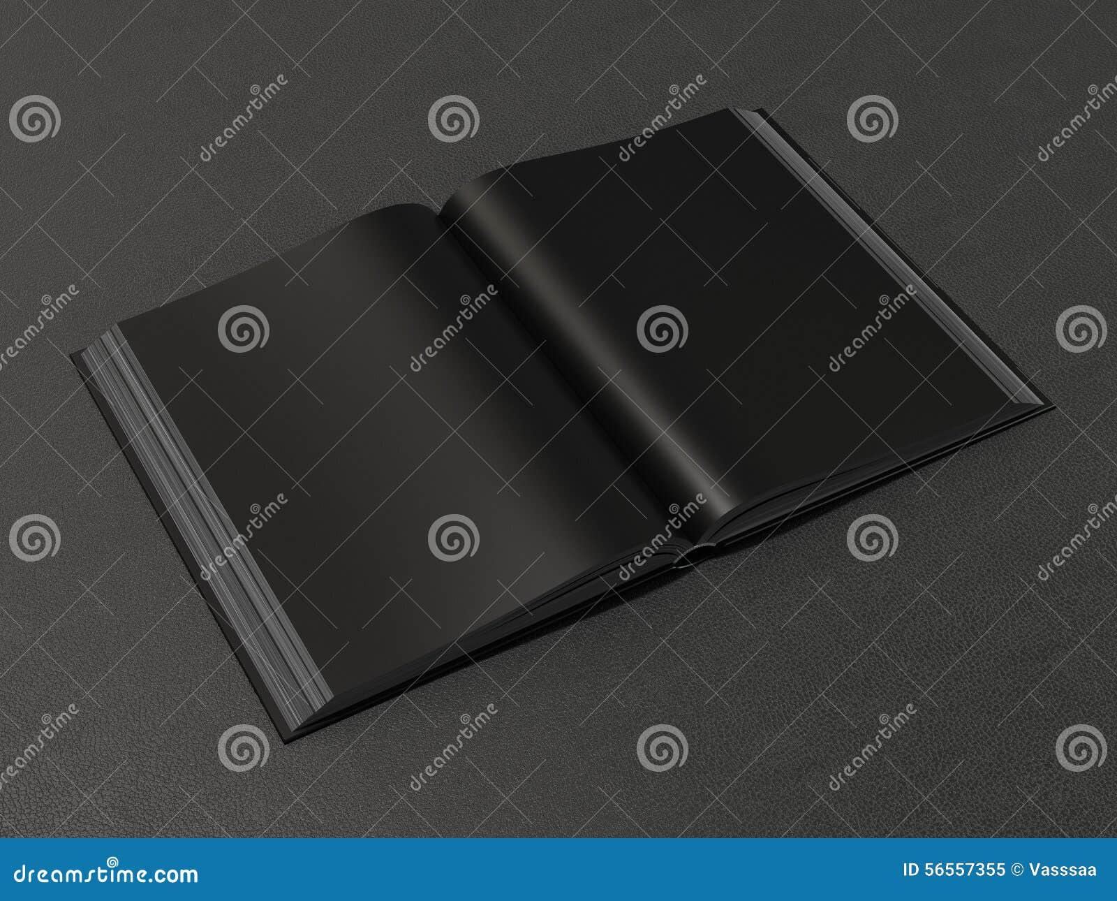Download Ανοικτό μαύρο πρότυπο βιβλίων Απεικόνιση αποθεμάτων - εικονογραφία από κενός, διαστατικός: 56557355
