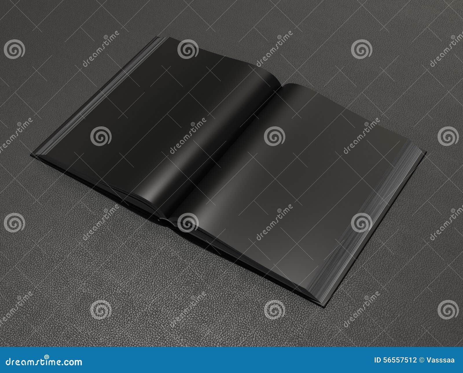 Download Ανοικτό μαύρο πρότυπο βιβλίων Απεικόνιση αποθεμάτων - εικονογραφία από σκοτεινός, ιδέα: 56557512