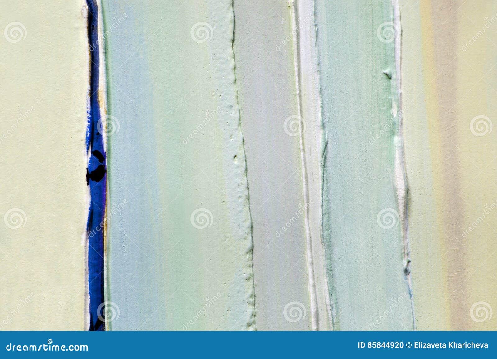 Ανοικτό πράσινο λουρίδες των παχιών στρωμάτων του χρώματος, ασβεστοκονίαμα