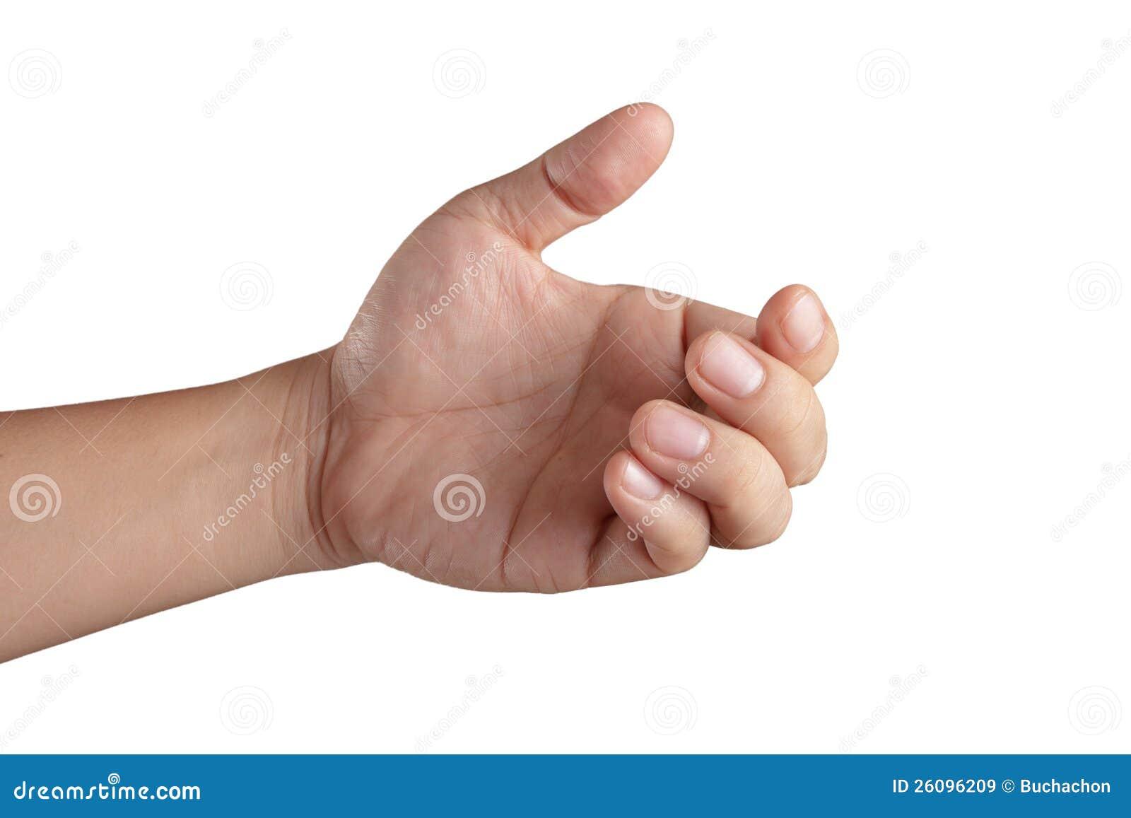 Ανοικτό χέρι που εμφανίζει και πέντε δάχτυλα