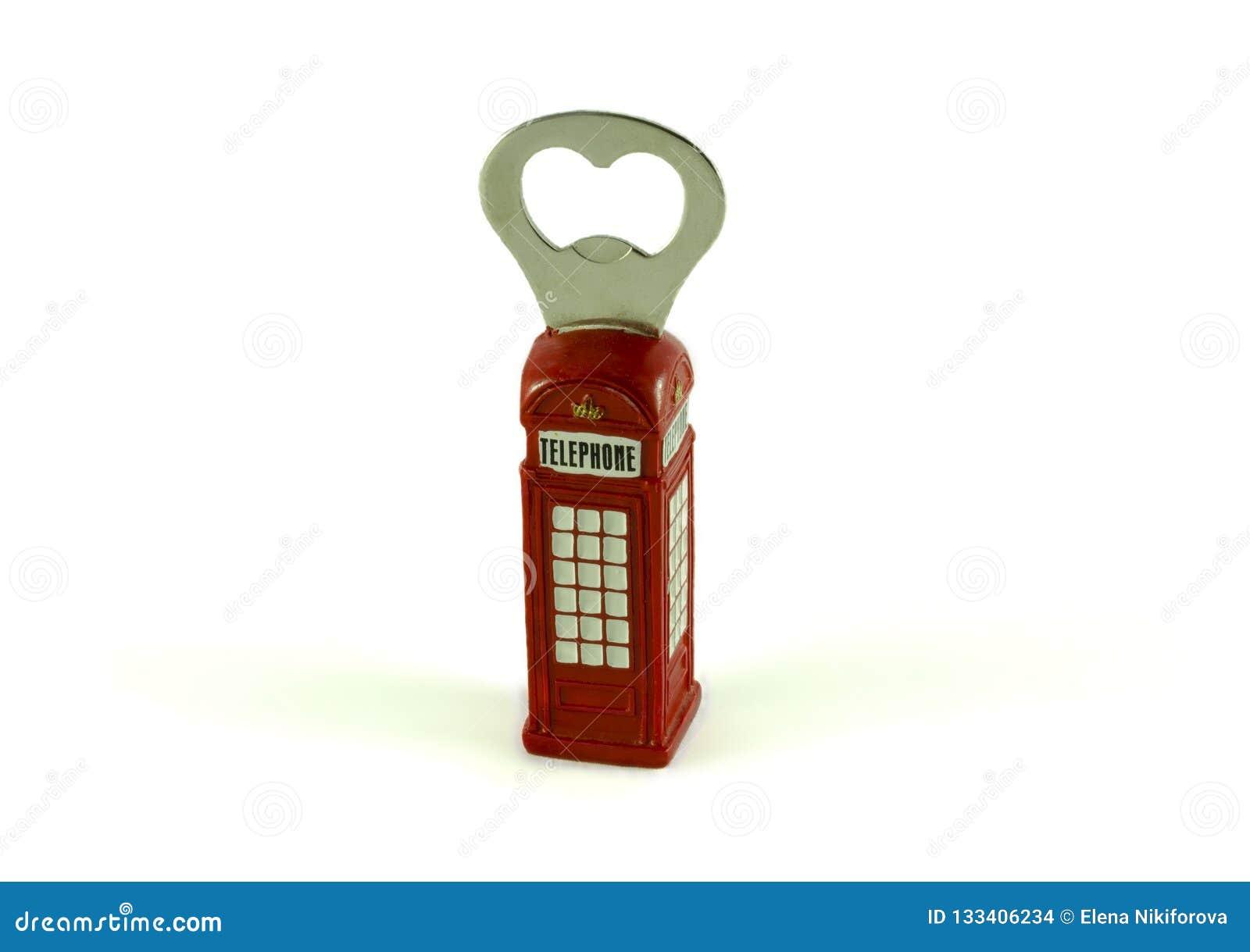 Ανοιχτήρι μπουκαλιών με μορφή ενός τηλεφωνικού θαλάμου