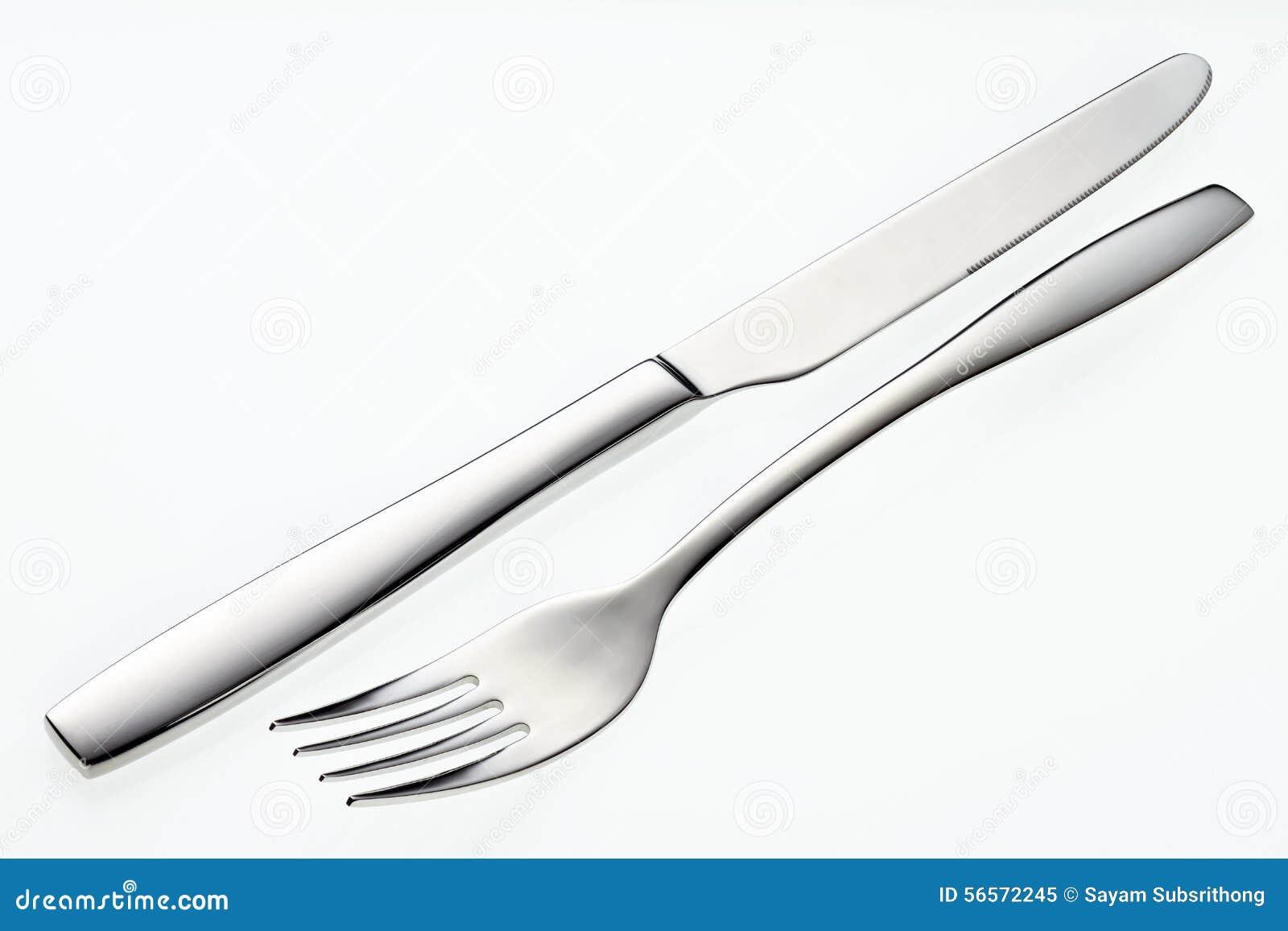 Download Ανοξείδωτα δίκρανο και μαχαίρι Στοκ Εικόνα - εικόνα από απομονωμένος, μαύρα: 56572245