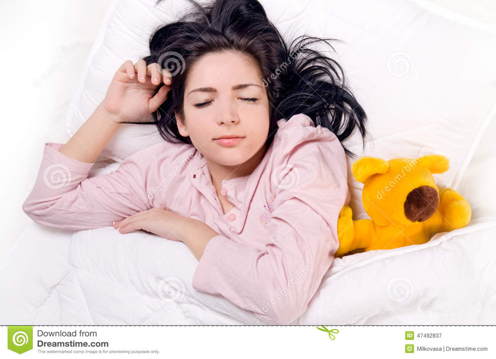 αντέξτε τον ύπνο κοριτσιών teddy