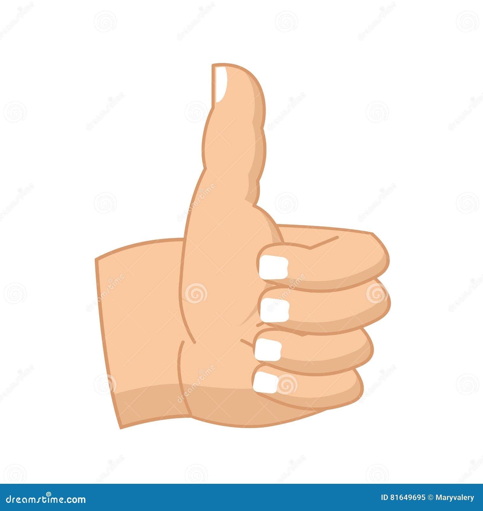 Αντίχειρες επάνω στο σημάδι χεριών που απομονώνεται όπως το σύμβολο εντάξει Επιτυχία ges
