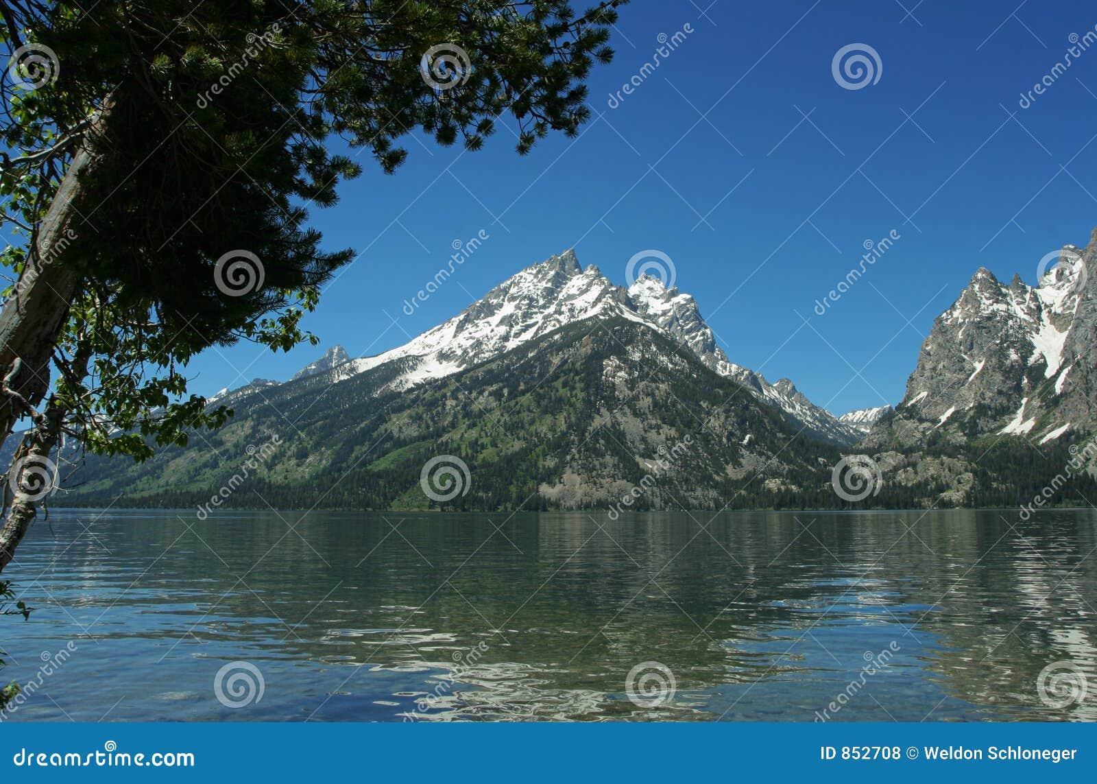 αντανάκλαση λιμνών της Jenny teton