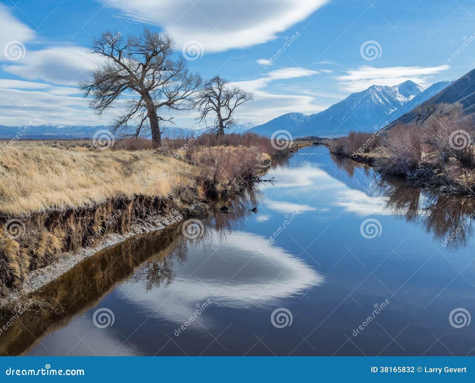 Αντανακλάσεις σύννεφων στην κοιλάδα ποταμών του Carson