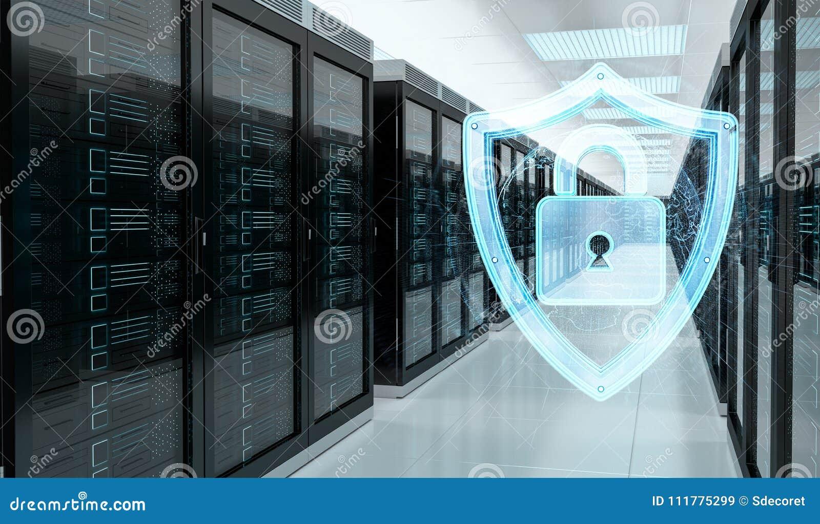 Αντιπυρική ζώνη που ενεργοποιείται στην τρισδιάστατη απόδοση κέντρων δεδομένων δωματίων κεντρικών υπολογιστών