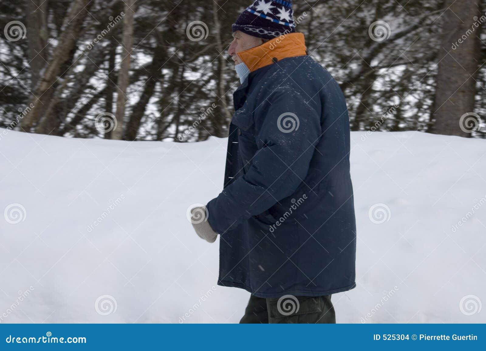 ανώτερος περίπατος θύελλας χιονιού