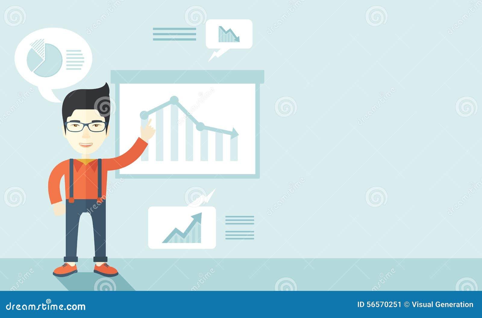 Download Ανώτερος υπάλληλος οικονομικών που παρουσιάζει διάγραμμα χρηματοδότησης Διανυσματική απεικόνιση - εικονογραφία από βέλος, εθνικός: 56570251