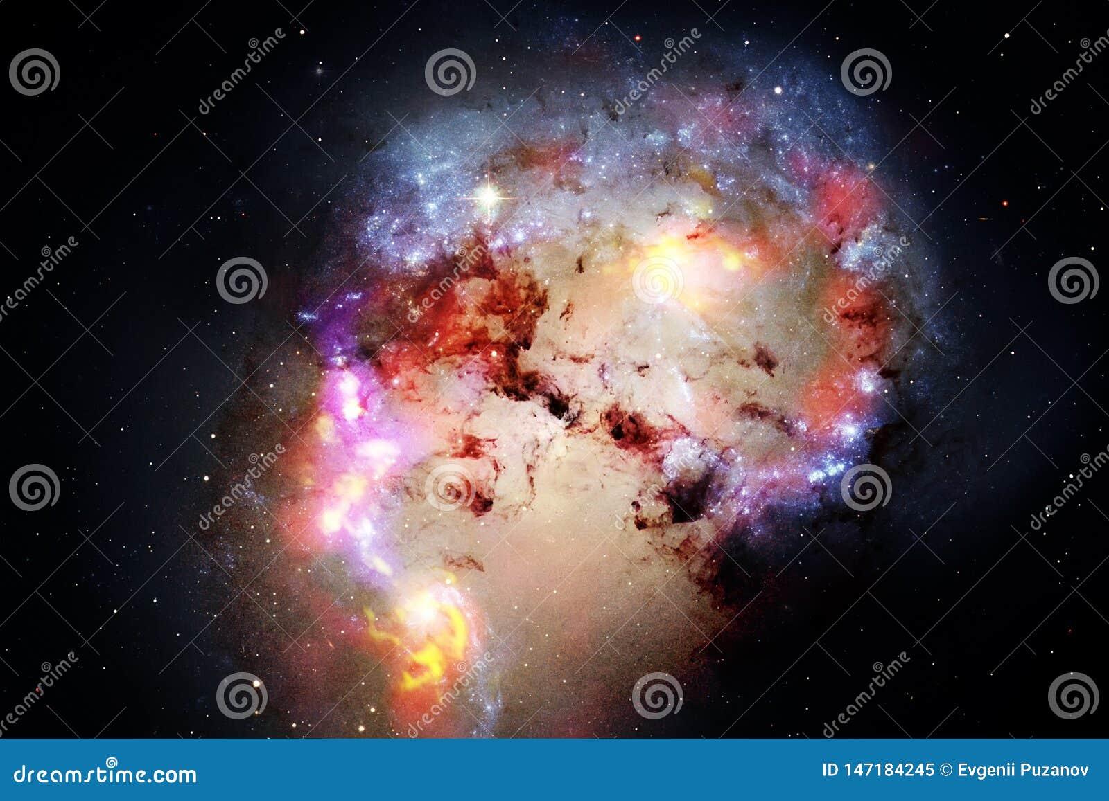 Απίστευτα όμορφος γαλαξίας κάπου στο βαθύ διάστημα o