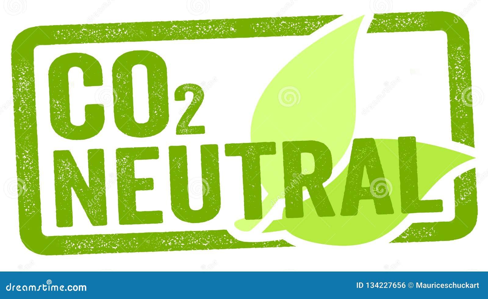 Απεικόνιση ενός γραμματοσήμου με τον άνθρακα του CO2 ουδέτερο