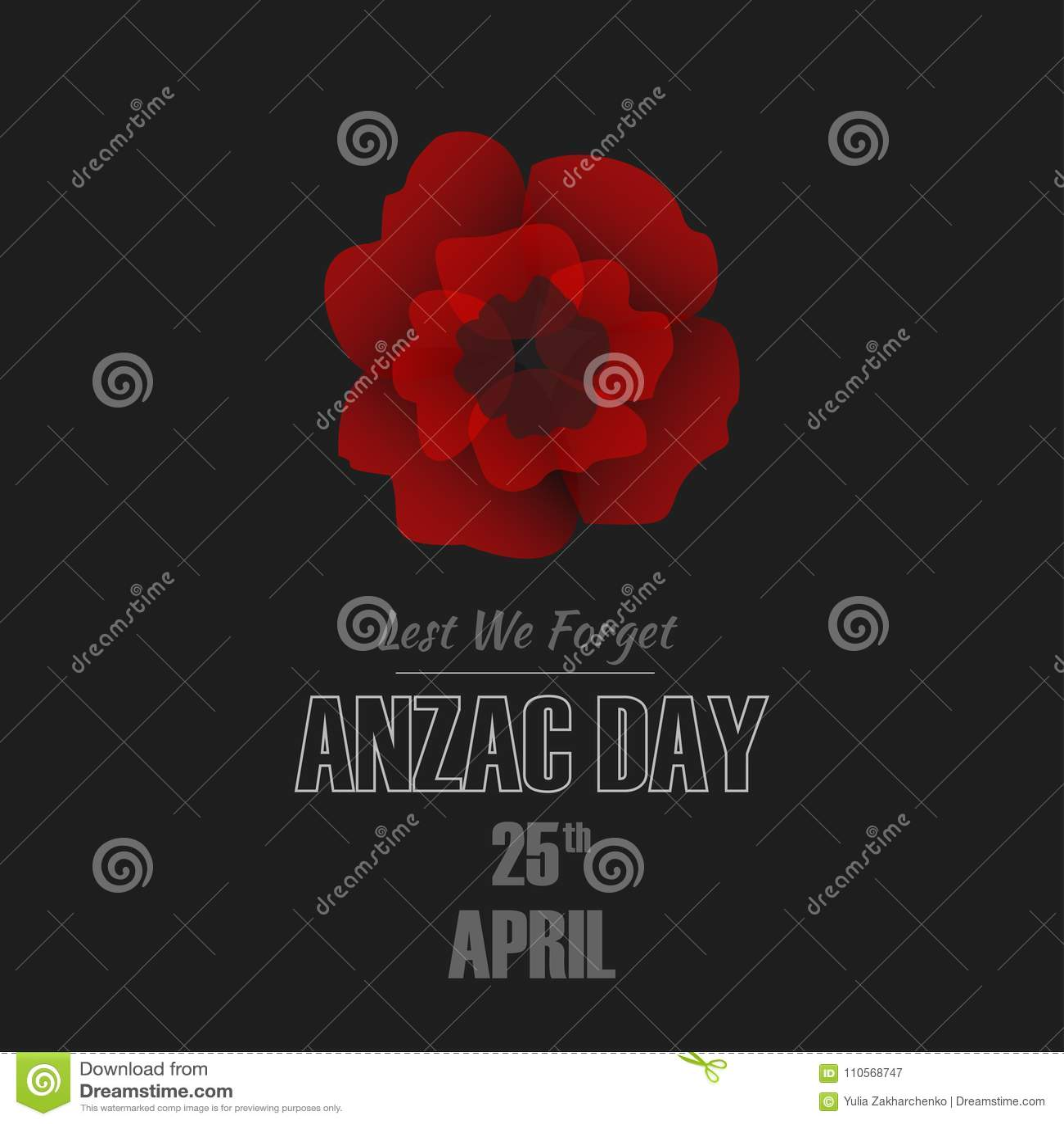 Απεικόνιση ημέρας Anzac