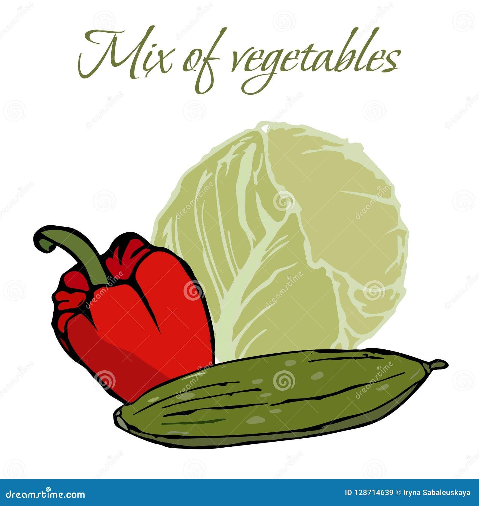 Απεικόνιση νόστιμου Veggies