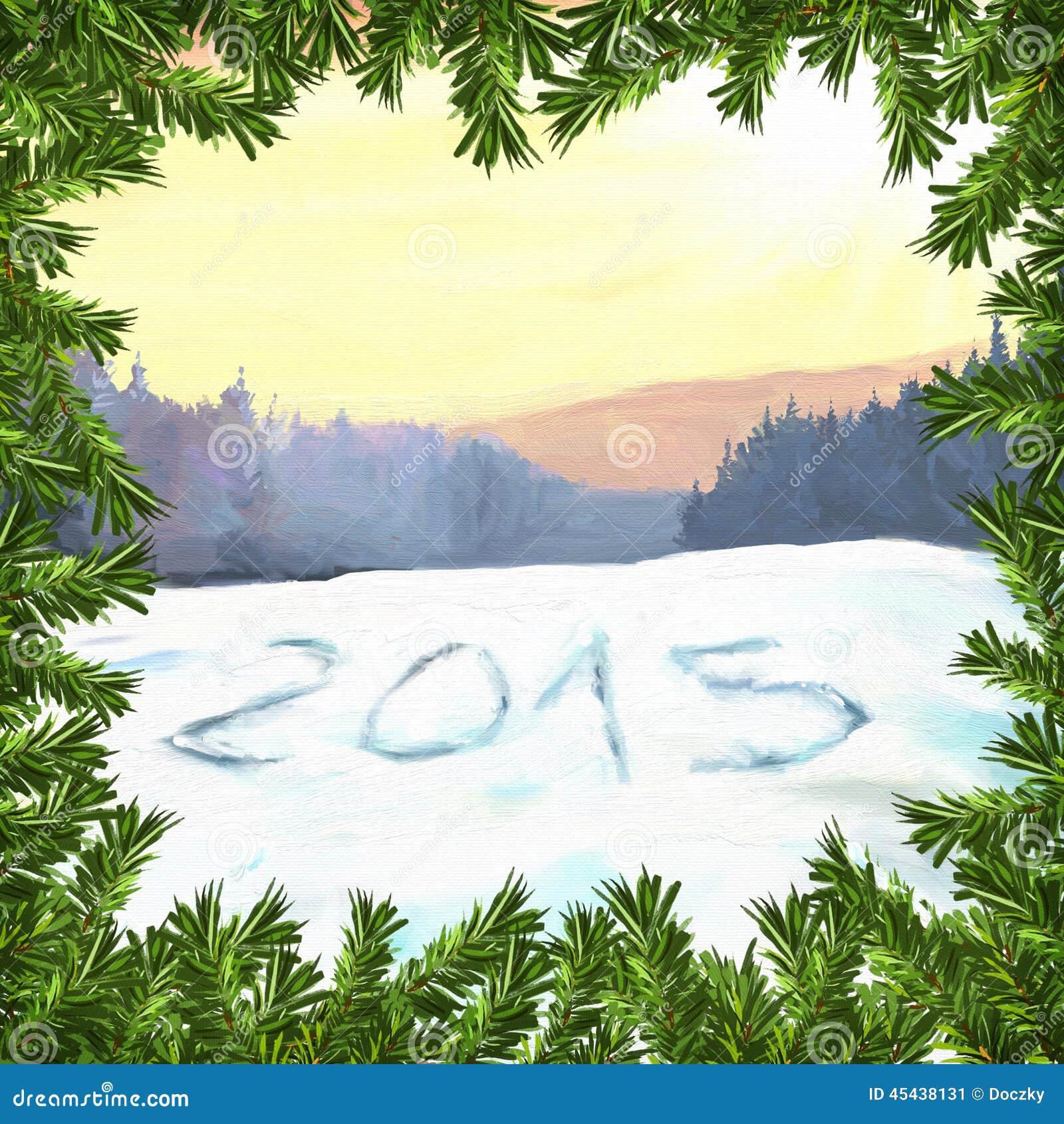 Απεικόνιση ράστερ καλής χρονιάς 2015