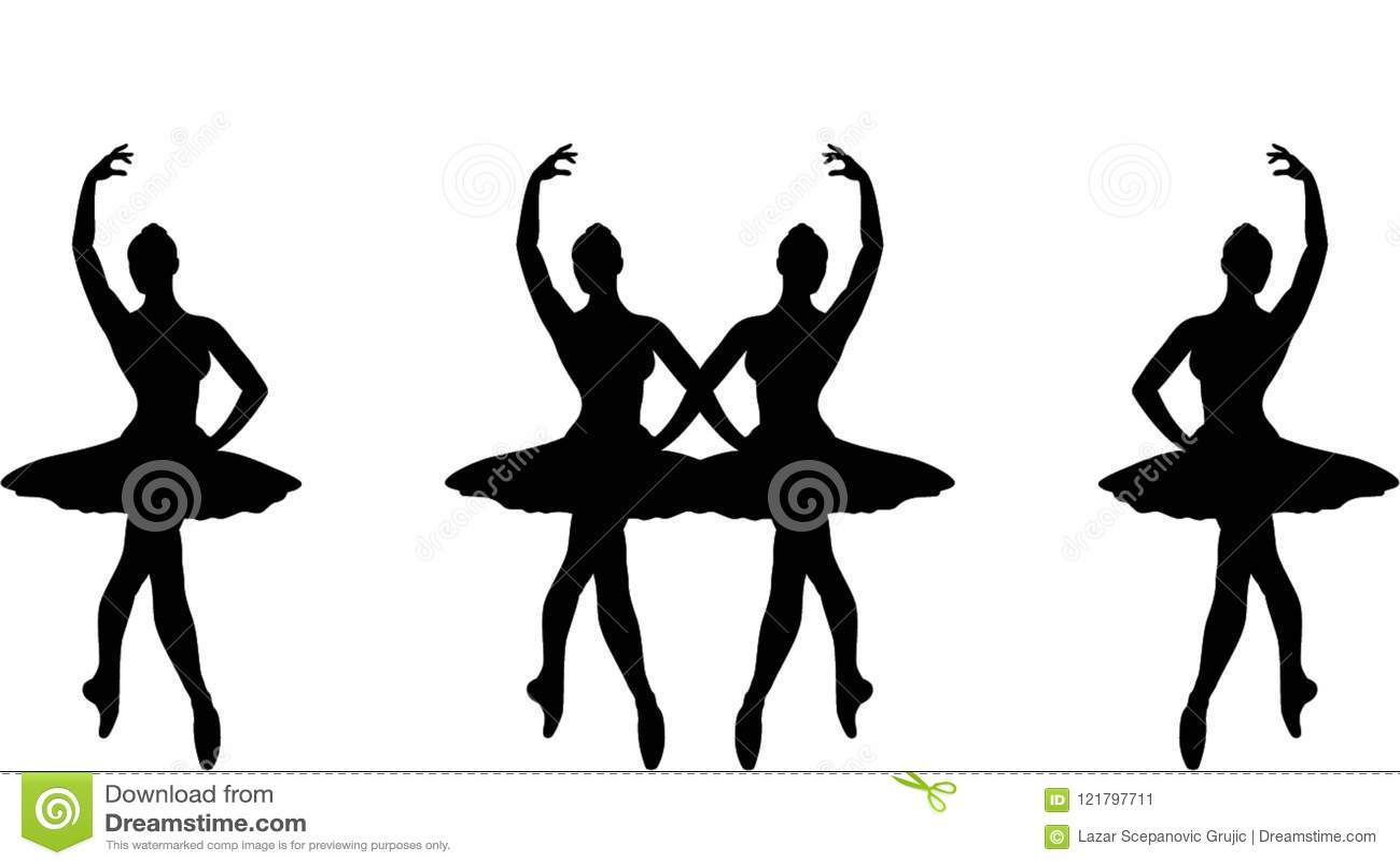 29aaea70059 Απεικόνιση σκιαγραφιών Ballerina Απεικόνιση αποθεμάτων ...